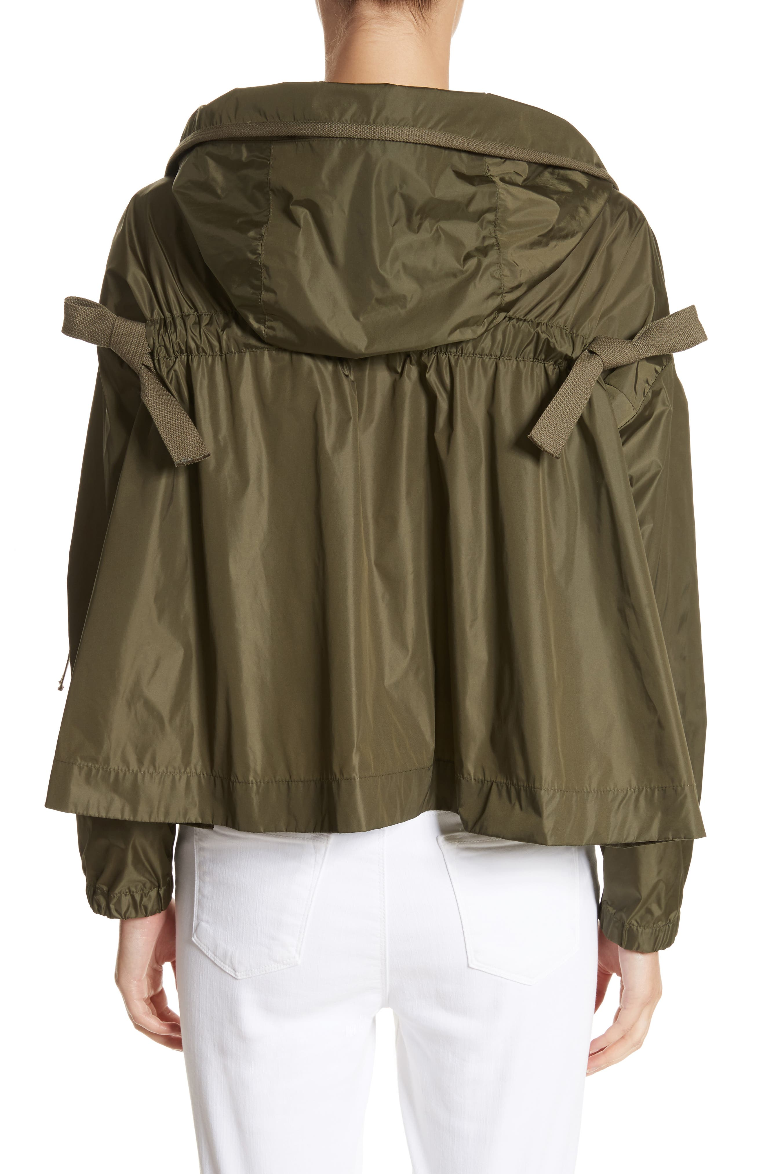 Lune Water Resistant Swing Jacket,                             Alternate thumbnail 3, color,                             Olive