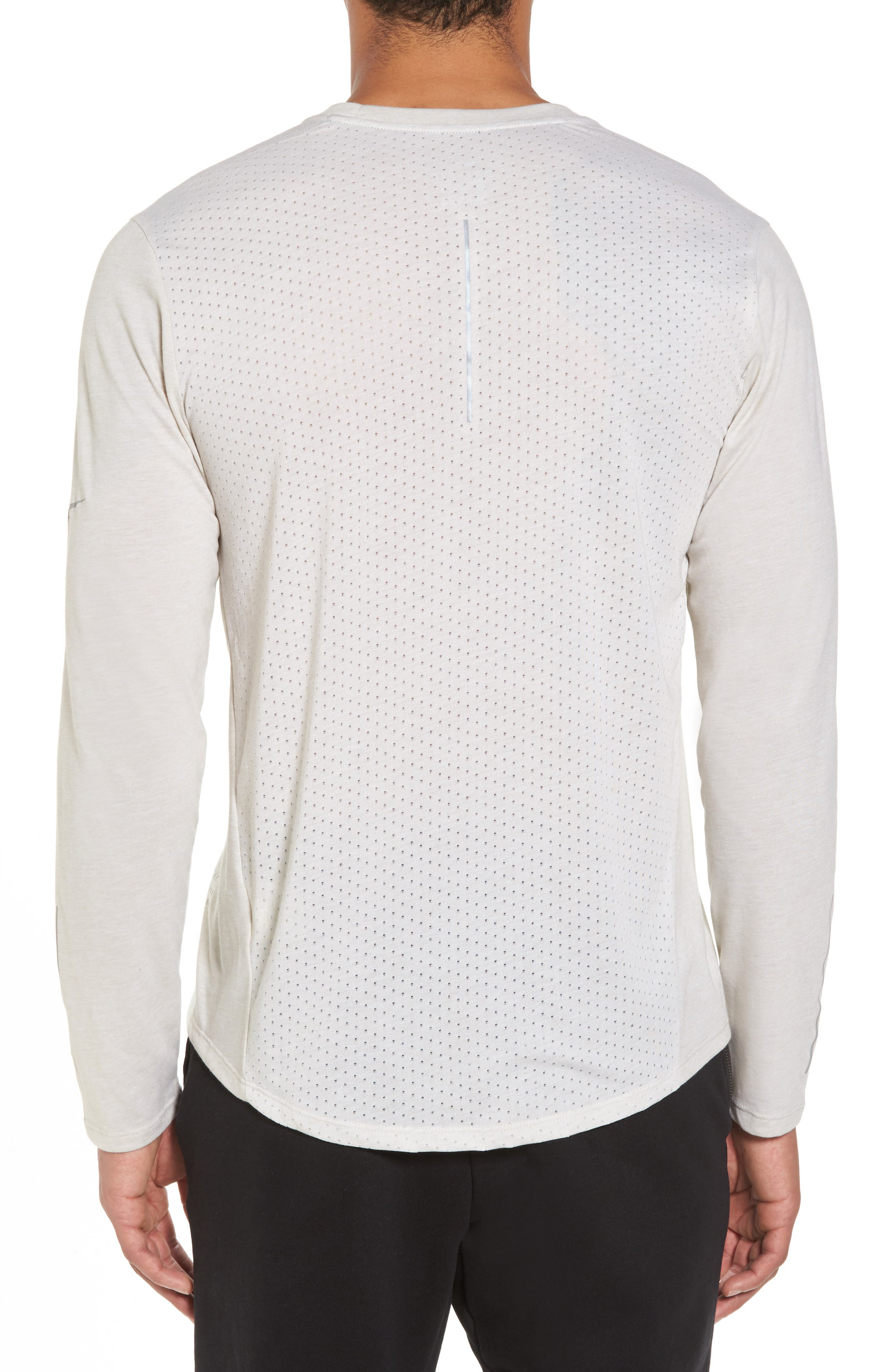 Tailwind Long Sleeve Running T-Shirt,                             Alternate thumbnail 2, color,                             Light Bone/ Heather