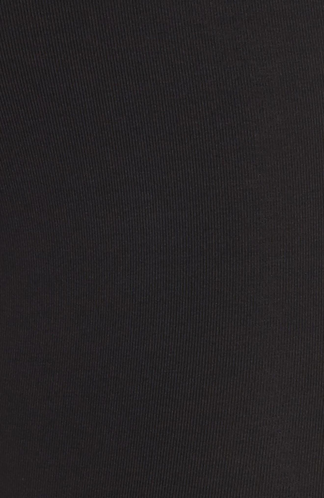 Leg-a-See High Waist Leggings,                             Alternate thumbnail 6, color,                             Black/ White