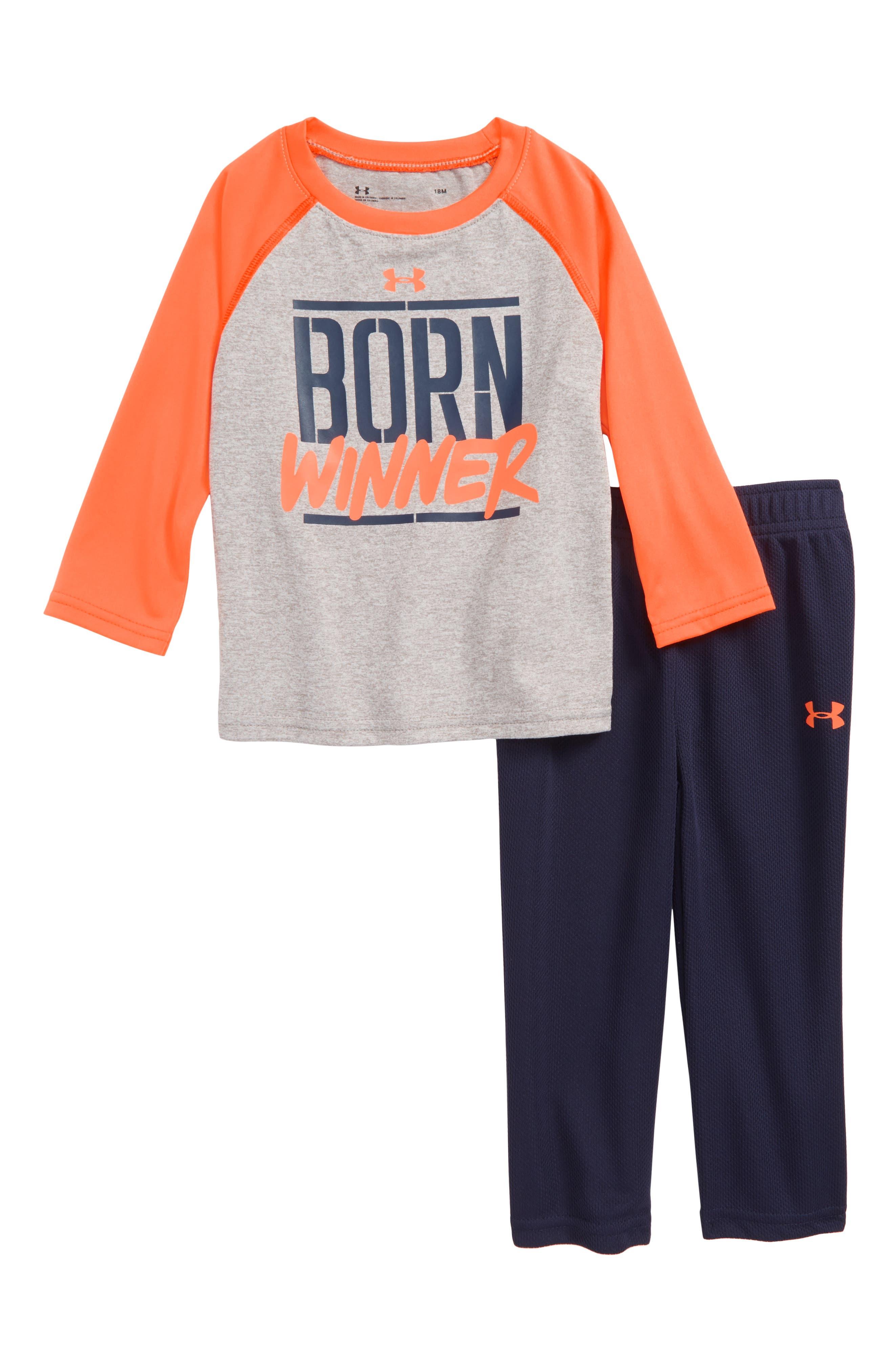 under armour shirts for boys. under armour born winner t-shirt \u0026 pants set (baby boys) shirts for boys