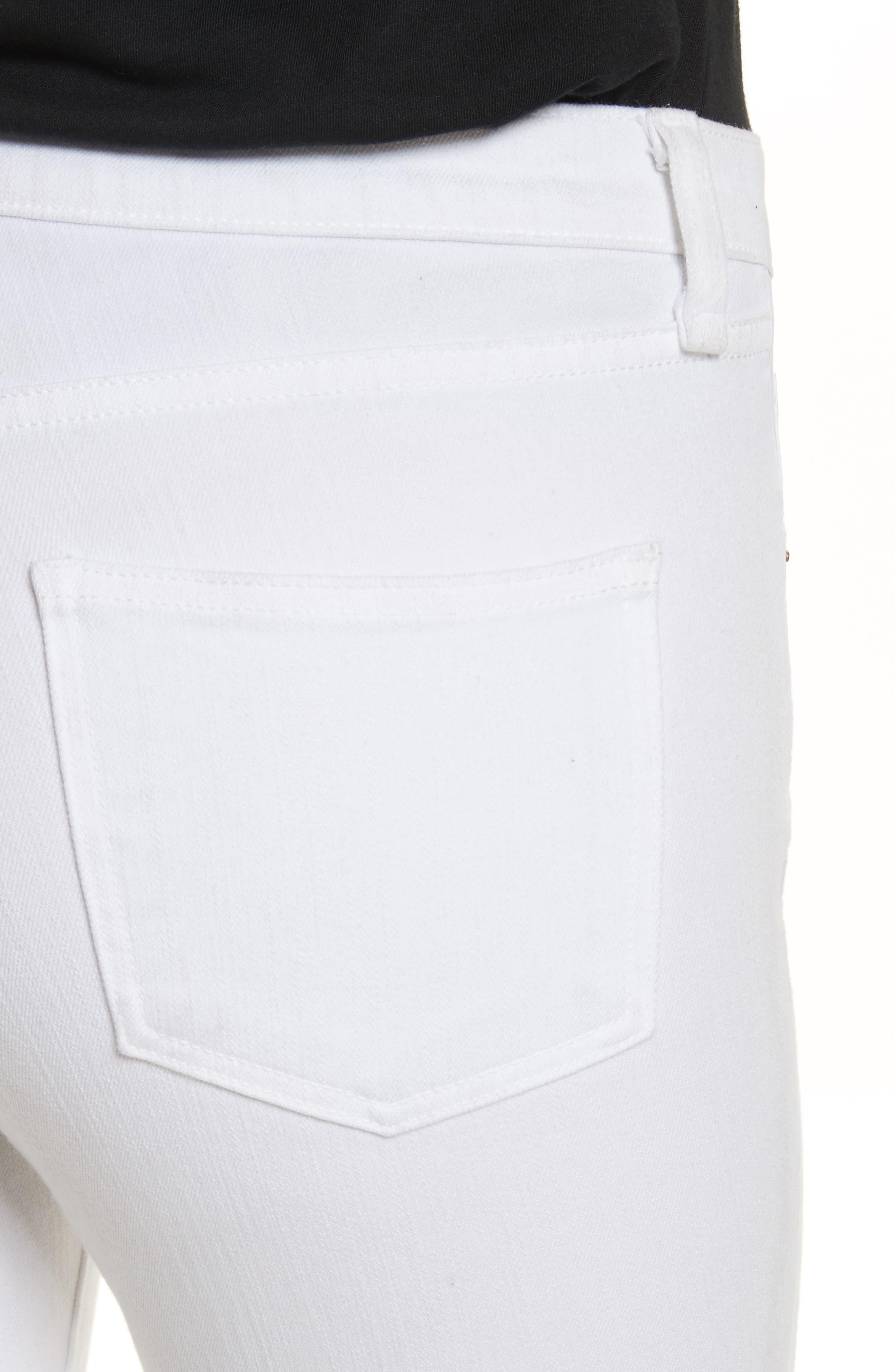 Kate Capri Jeans,                             Alternate thumbnail 4, color,                             White