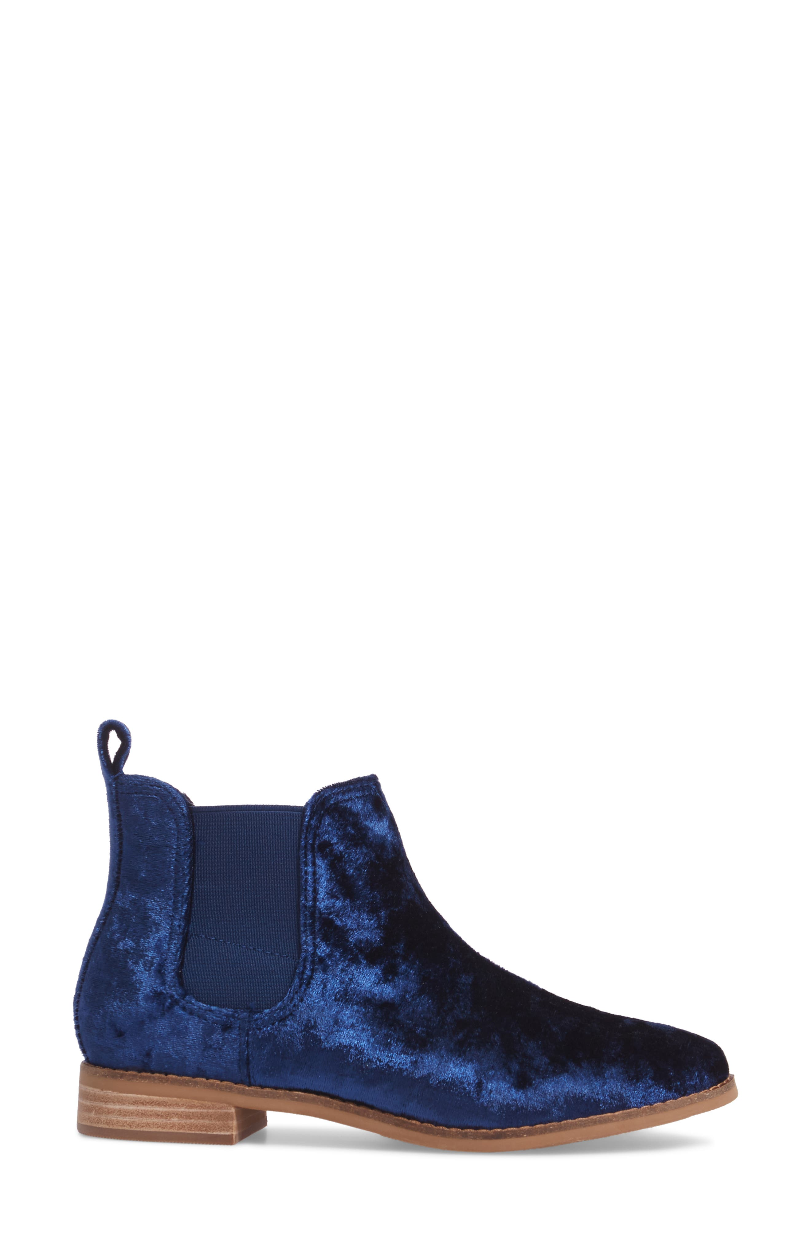 Ella Bootie,                             Alternate thumbnail 3, color,                             Navy Fabric