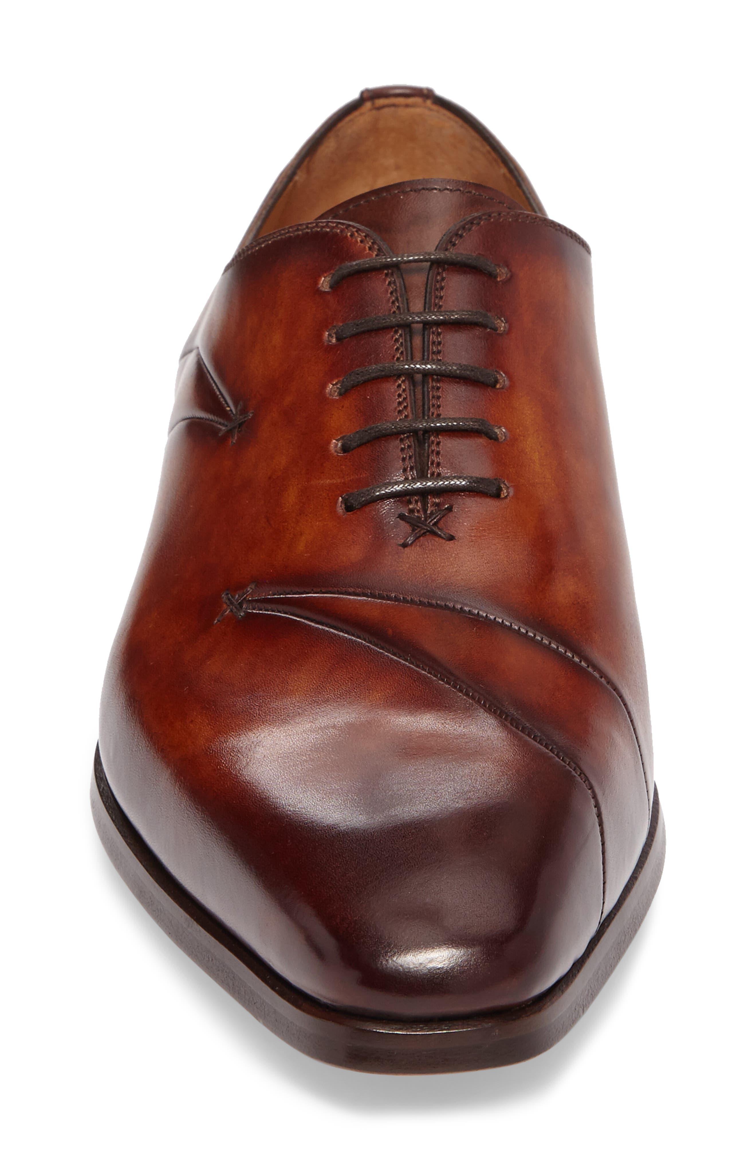 Marquez Stitched Oxford,                             Alternate thumbnail 4, color,                             Cognac Leather