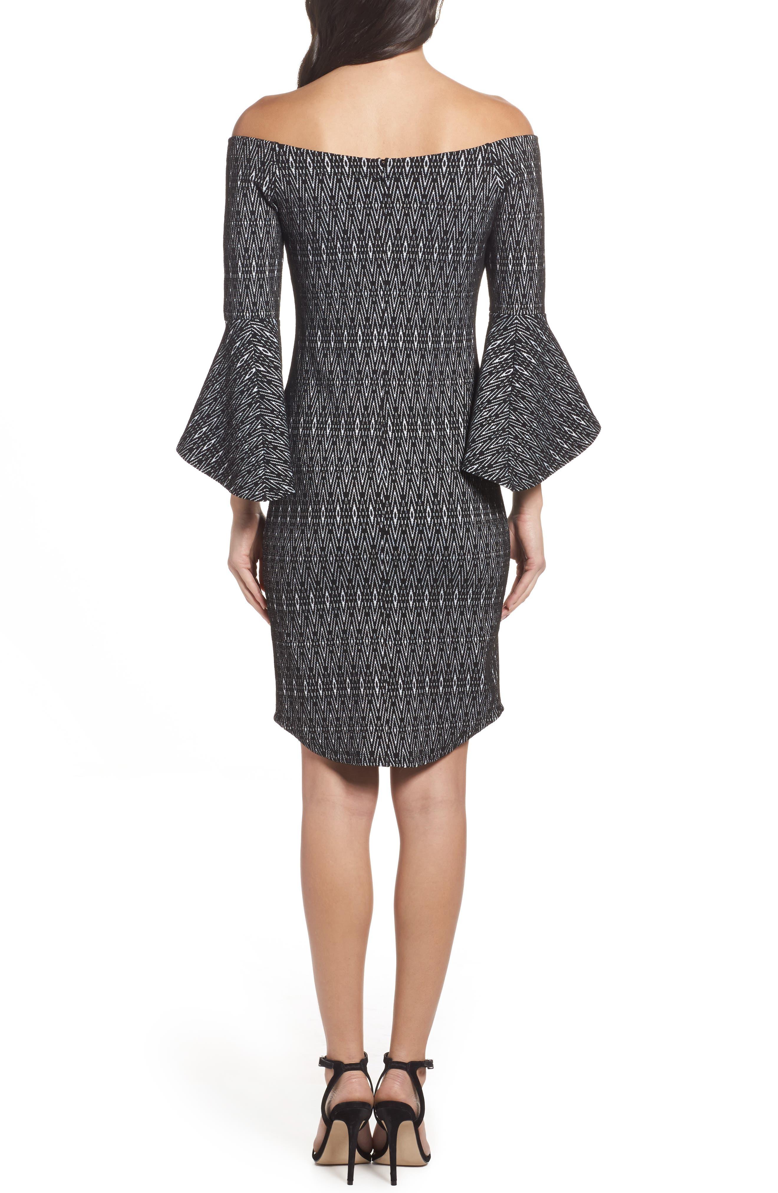 Alternate Image 2  - THML Off the Shoulder Sheath Dress