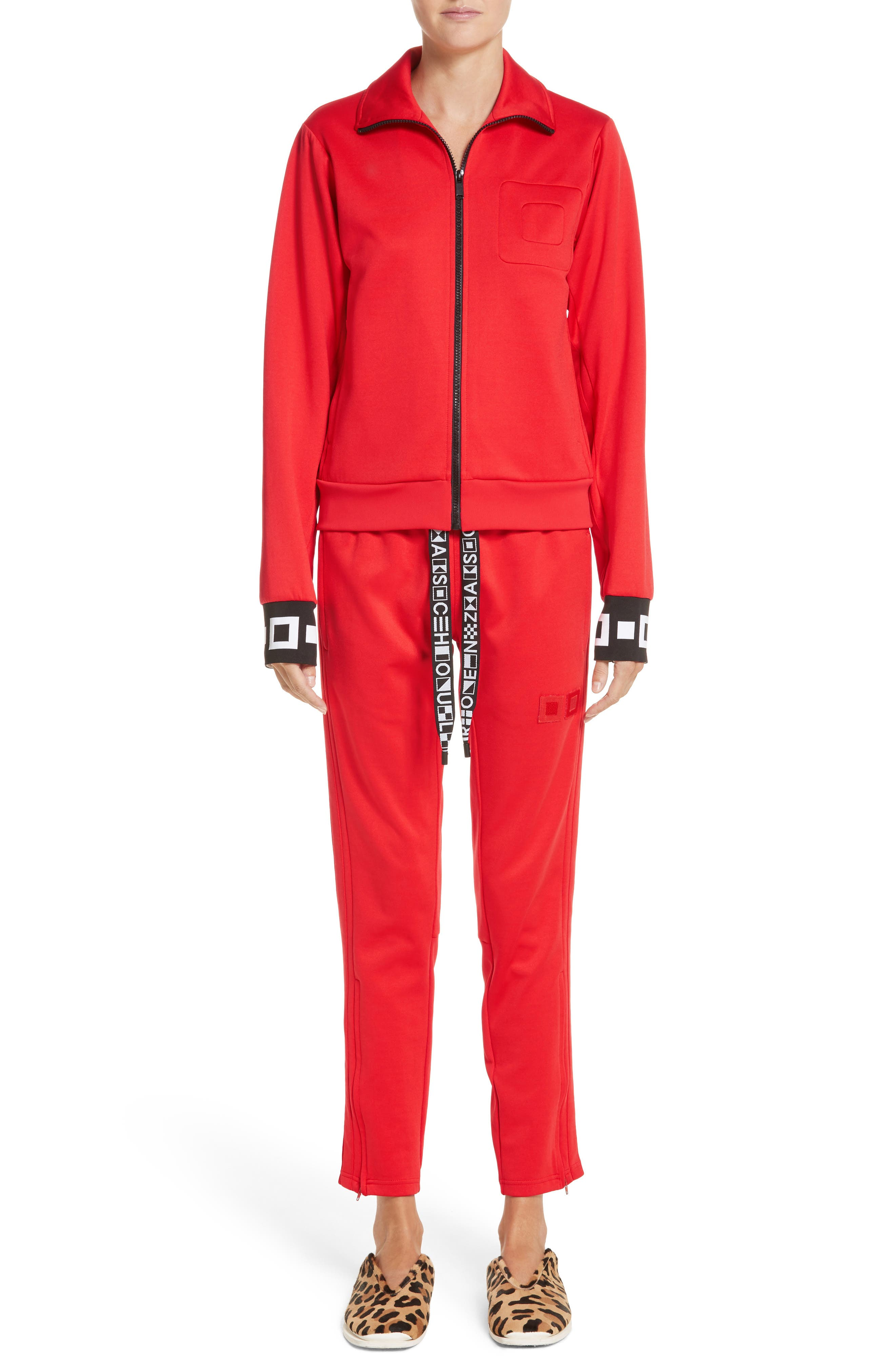 PSWL Jersey Track Pants,                             Alternate thumbnail 2, color,                             Poppy