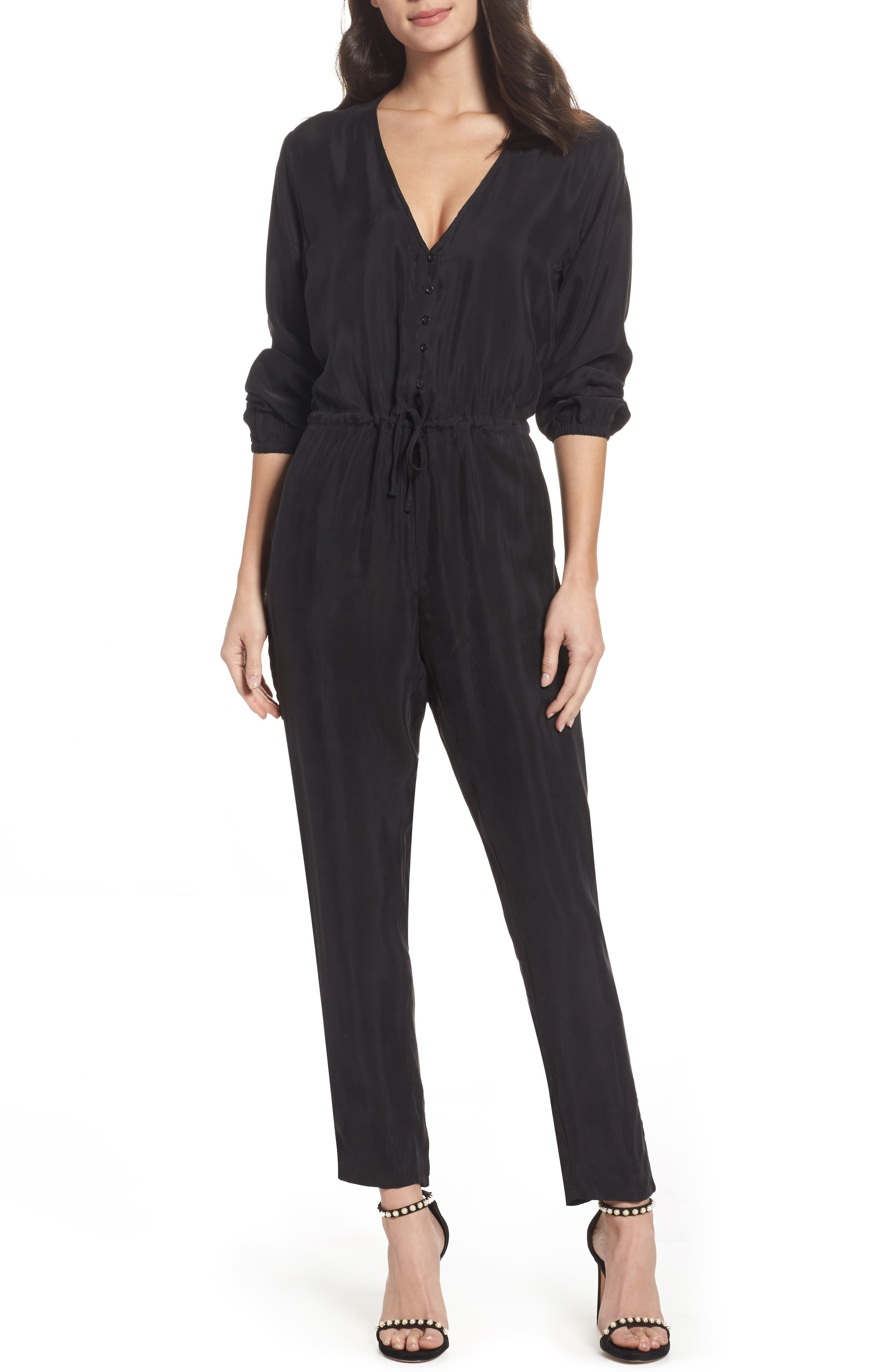 Elizabeth Jumpsuit,                             Main thumbnail 1, color,                             Black