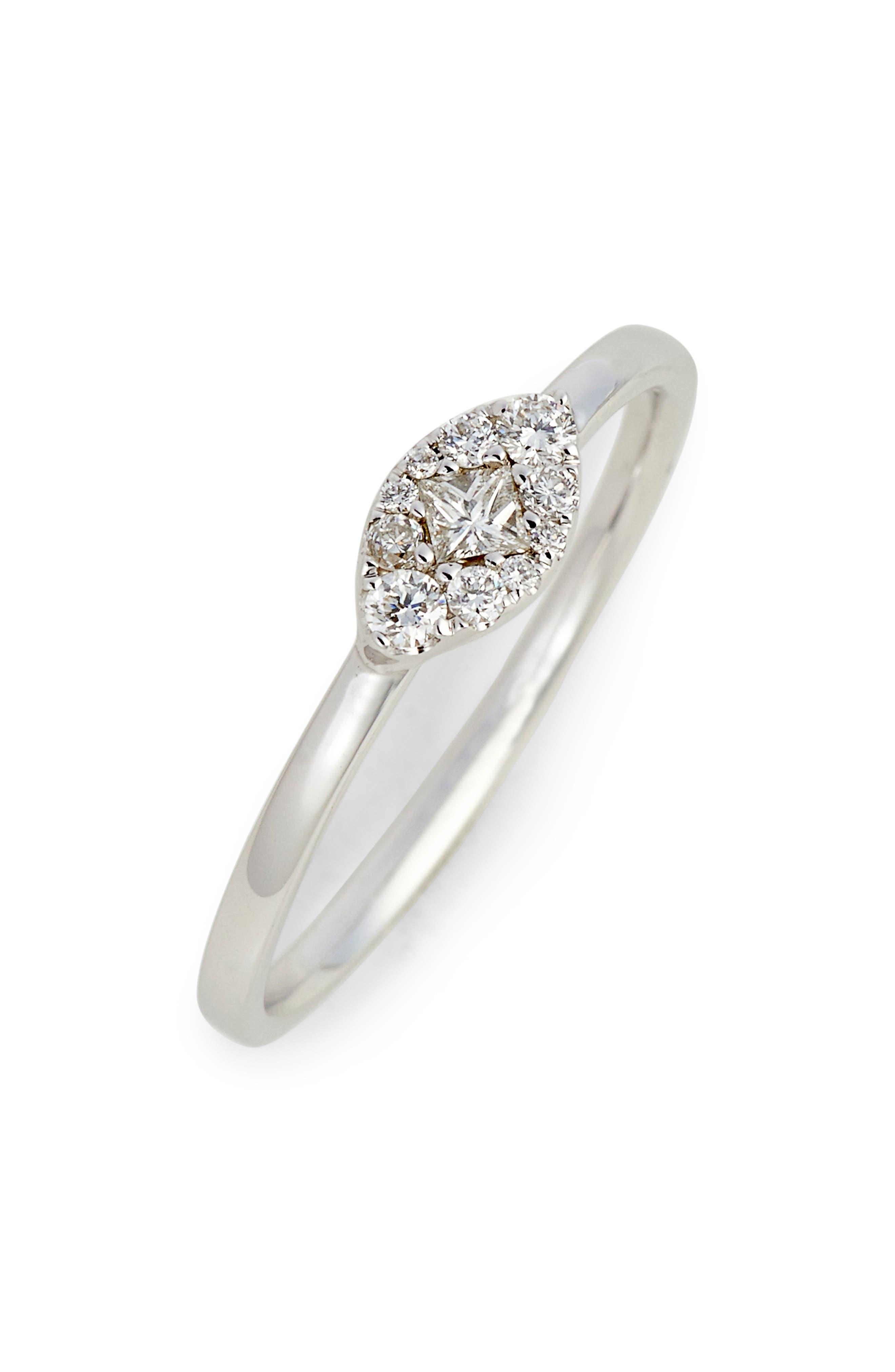 Main Image - Bony Levy Mika Marquise Diamond Stacking Ring