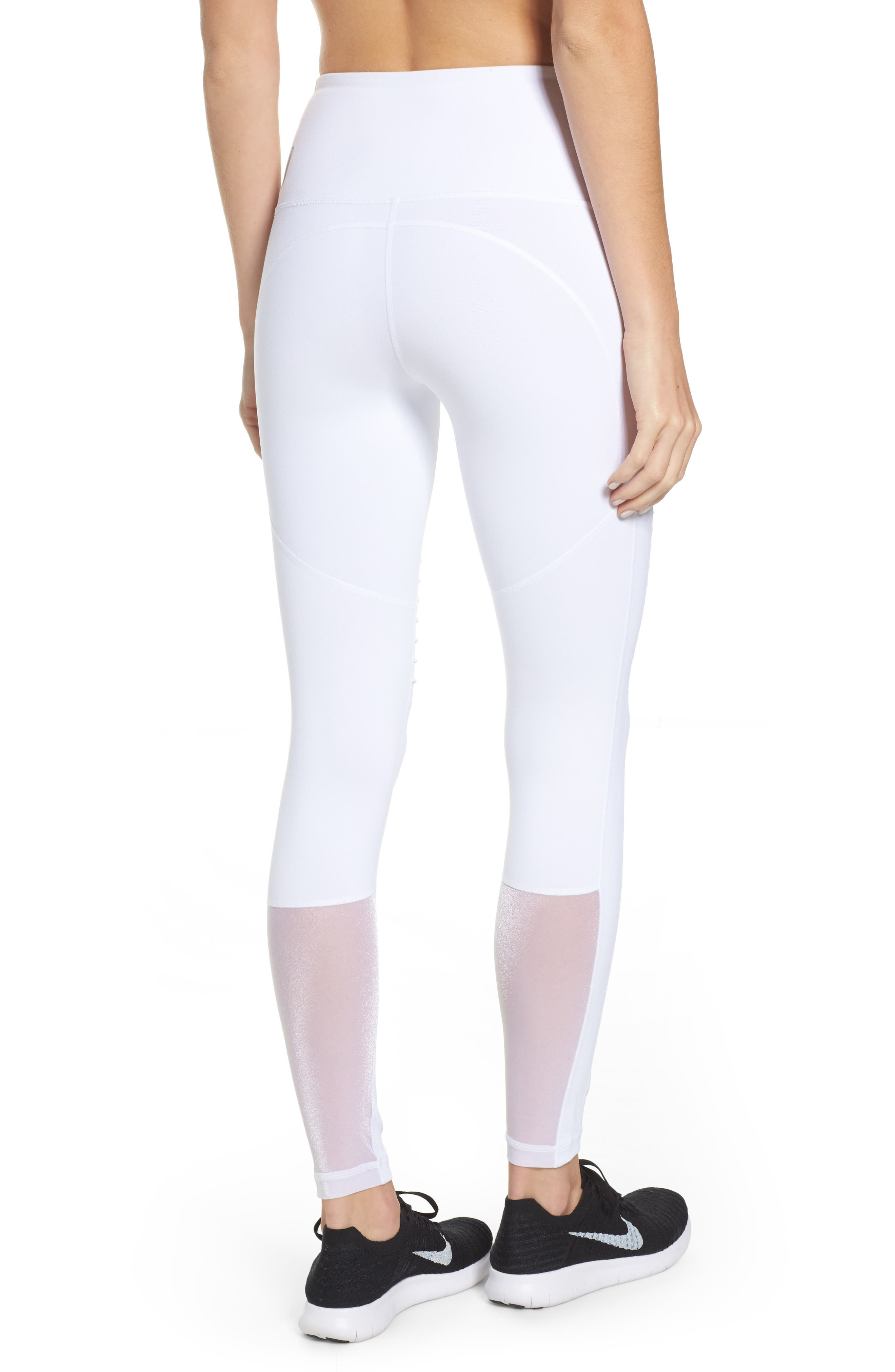 Alternate Image 2  - Zella Autumn High Waist Moto Ankle Leggings
