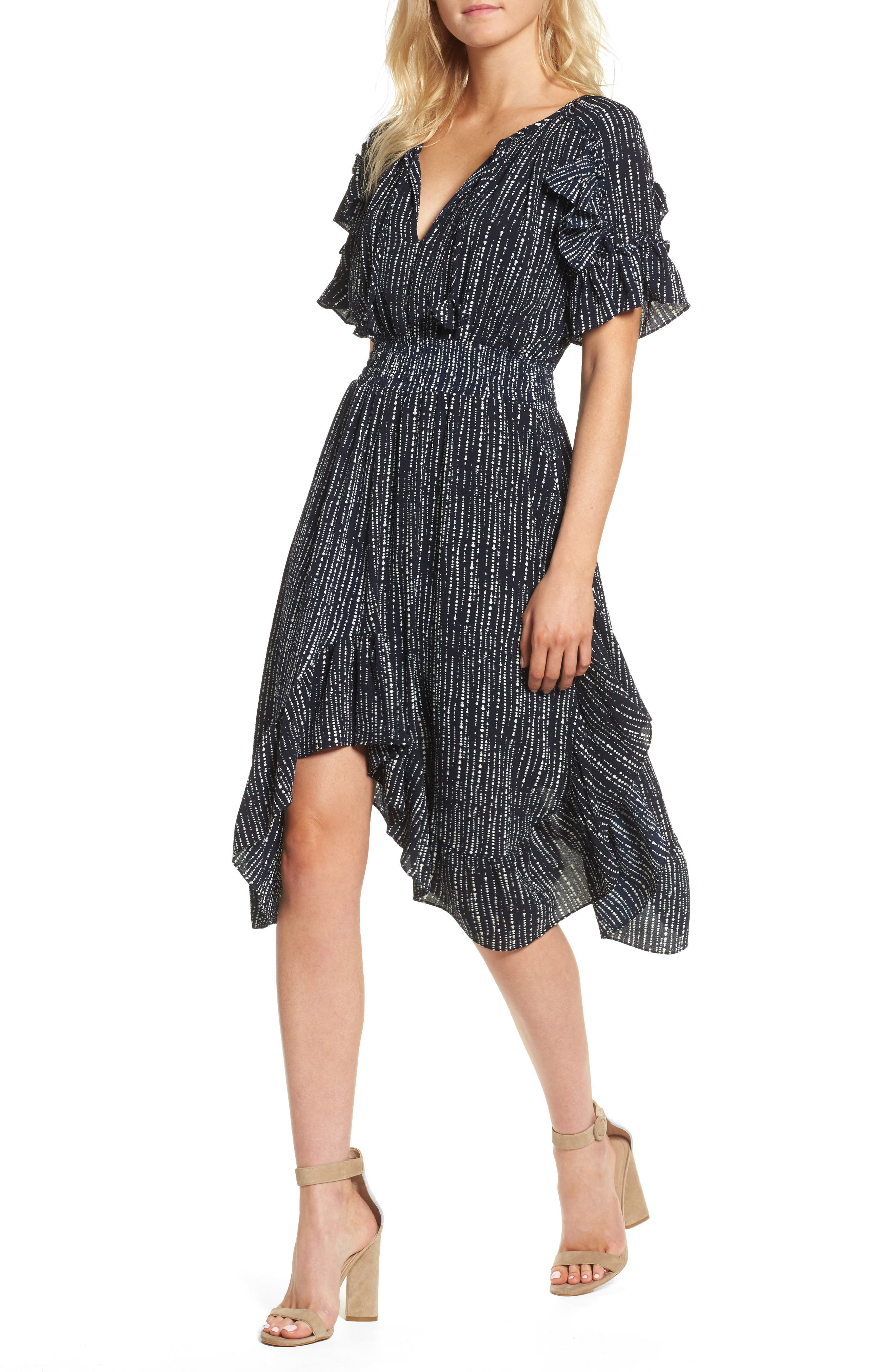 Alternate Image 1 Selected - MISA Los Angeles Patricia High/Low Dress