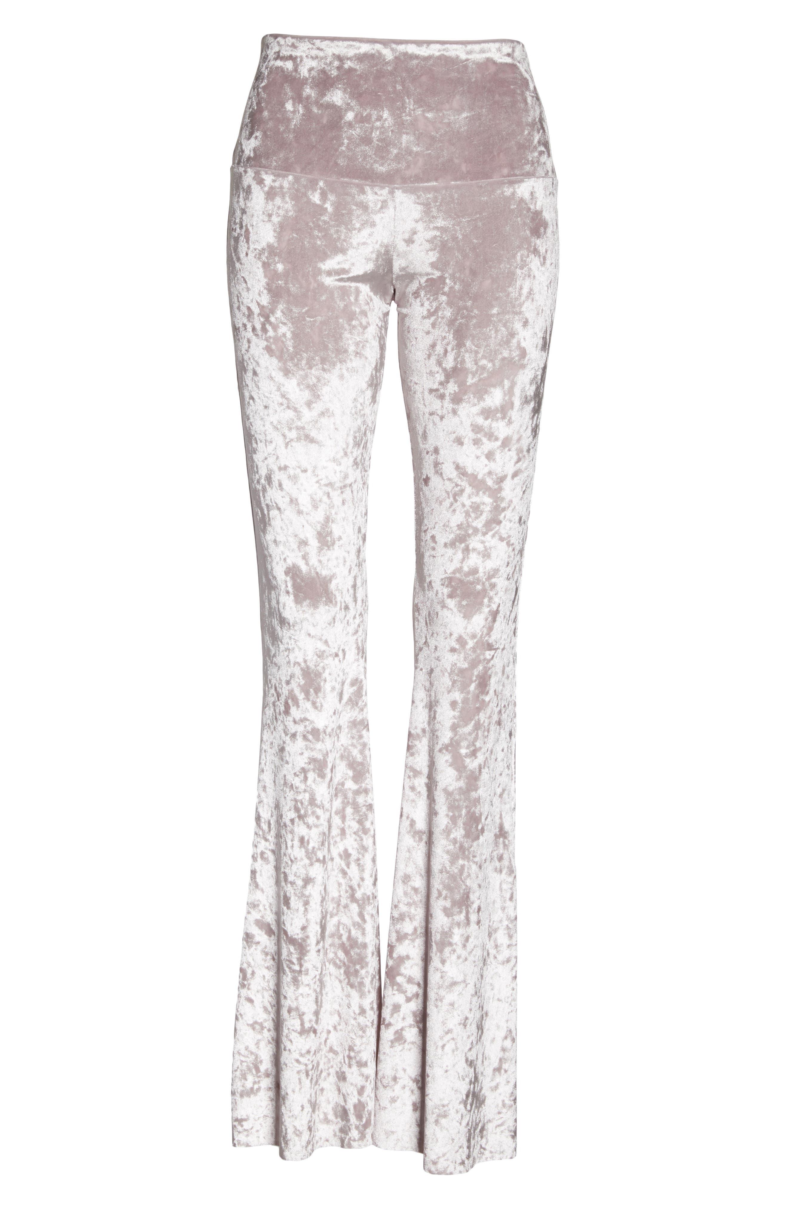 Flare Leg Yoga Pants,                             Alternate thumbnail 7, color,                             Mist Crushed Velvet