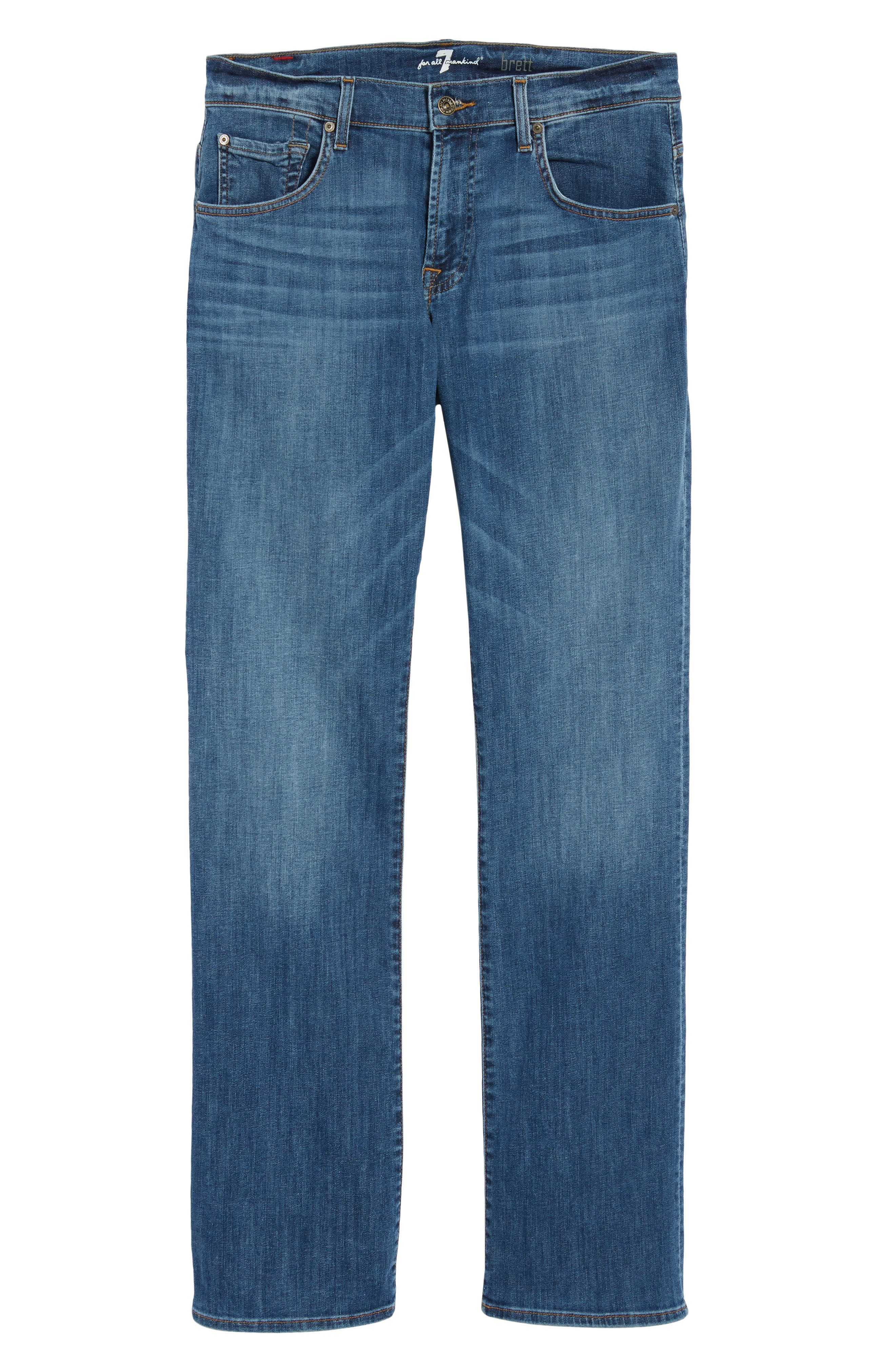Brett Bootcut Jeans,                             Alternate thumbnail 6, color,                             Aurora