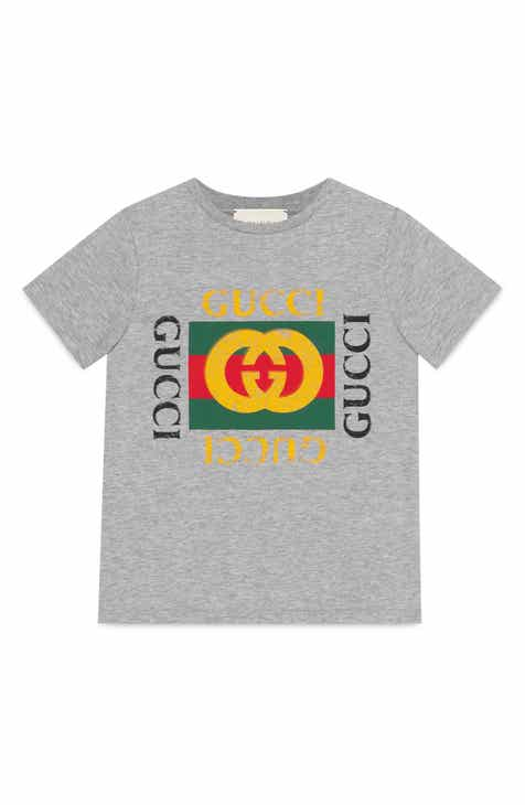 1c0de17f5fc34d Gucci Logo Graphic T-Shirt (Little Boys   Big Boys)