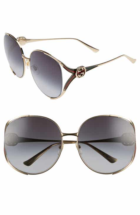 749dc66566 Gucci 63mm Open Temple Sunglasses