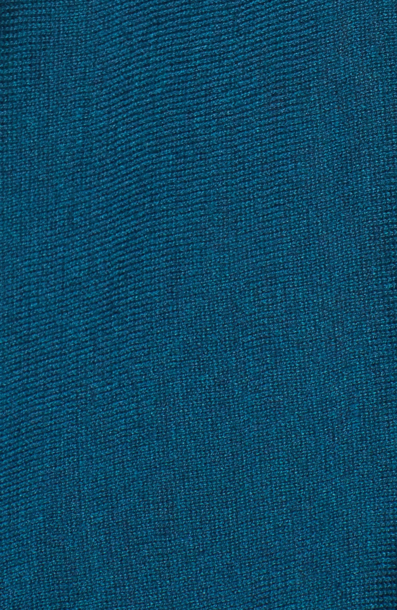 Tencel<sup>®</sup> Lyocell Blend High/Low Sweater,                             Alternate thumbnail 5, color,                             Blue Spruce