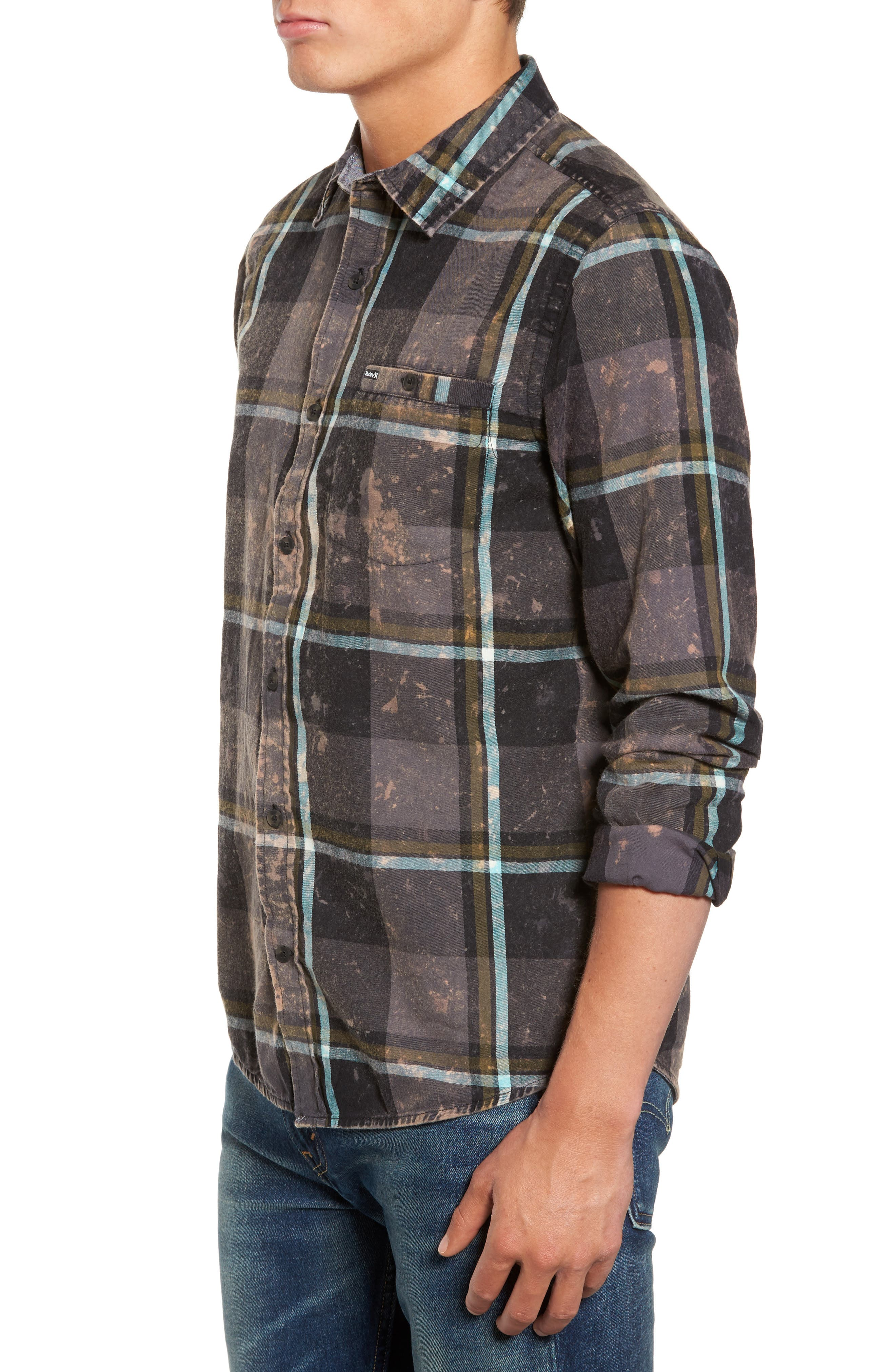 Alternate Image 3  - Hurley Burnside Plaid Shirt