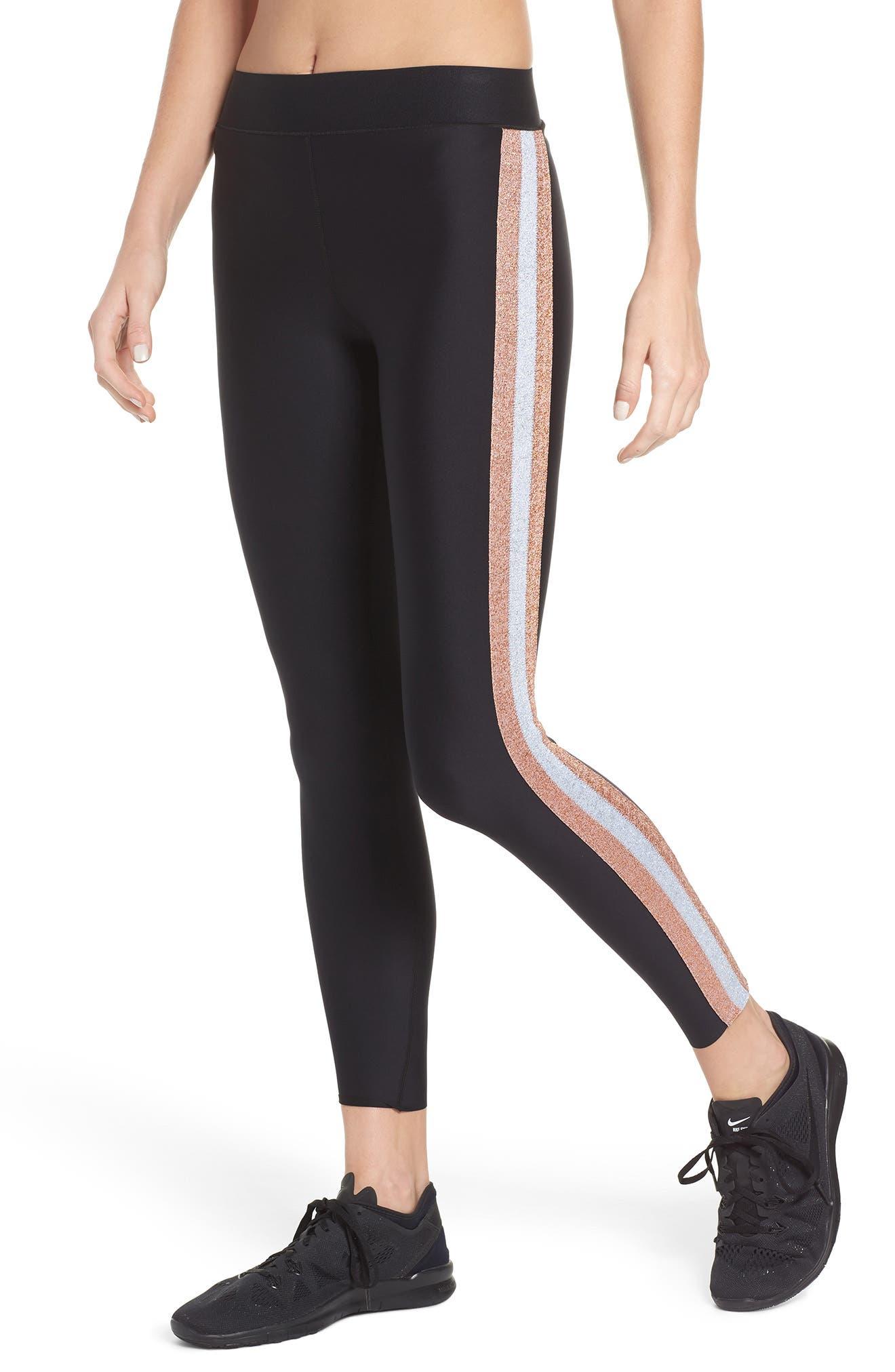 Ultra Lux Collegiate Leggings,                         Main,                         color, Nero Rose Silver
