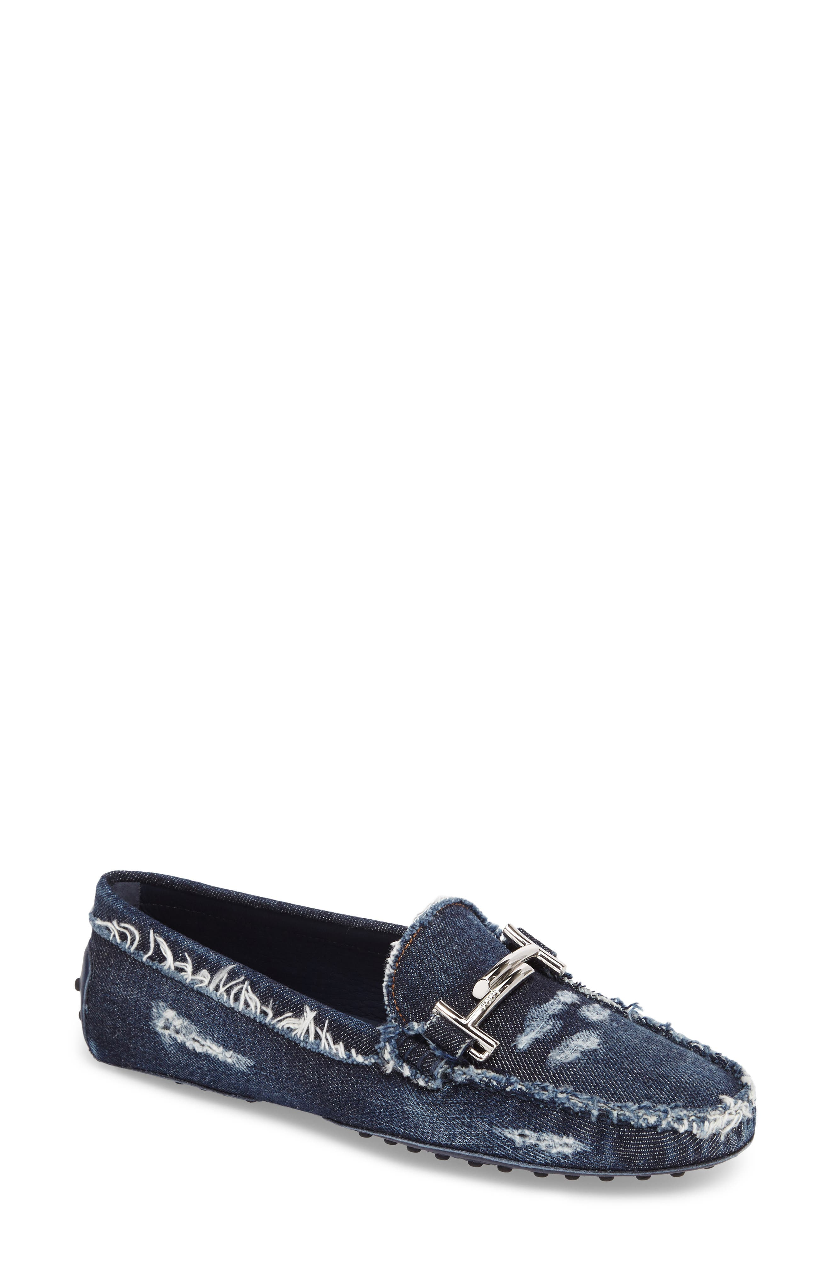 Gommino Double T Loafer,                         Main,                         color, Denim Blue
