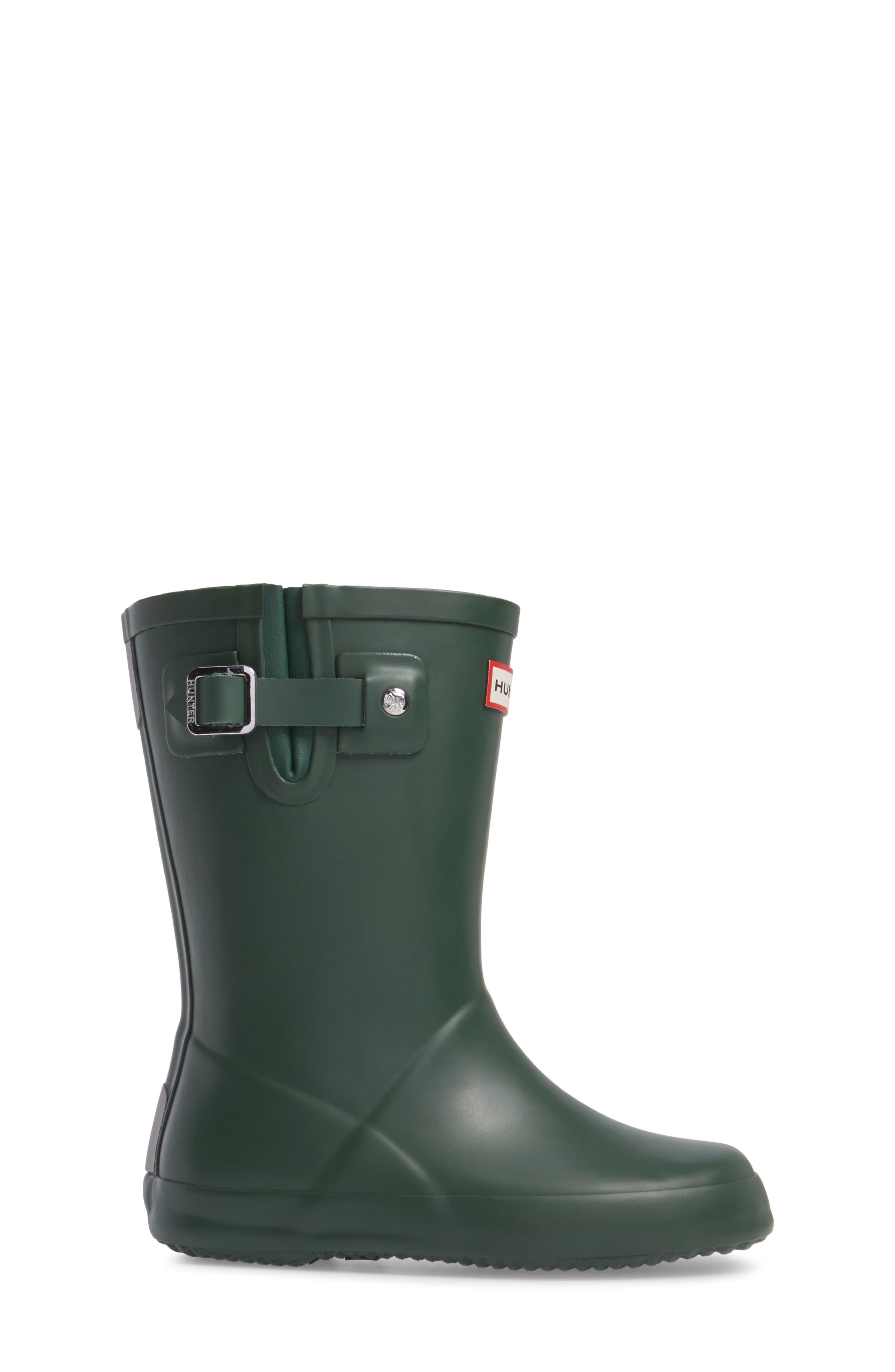 Buckle Strap Rain Boot,                             Alternate thumbnail 3, color,                             Green