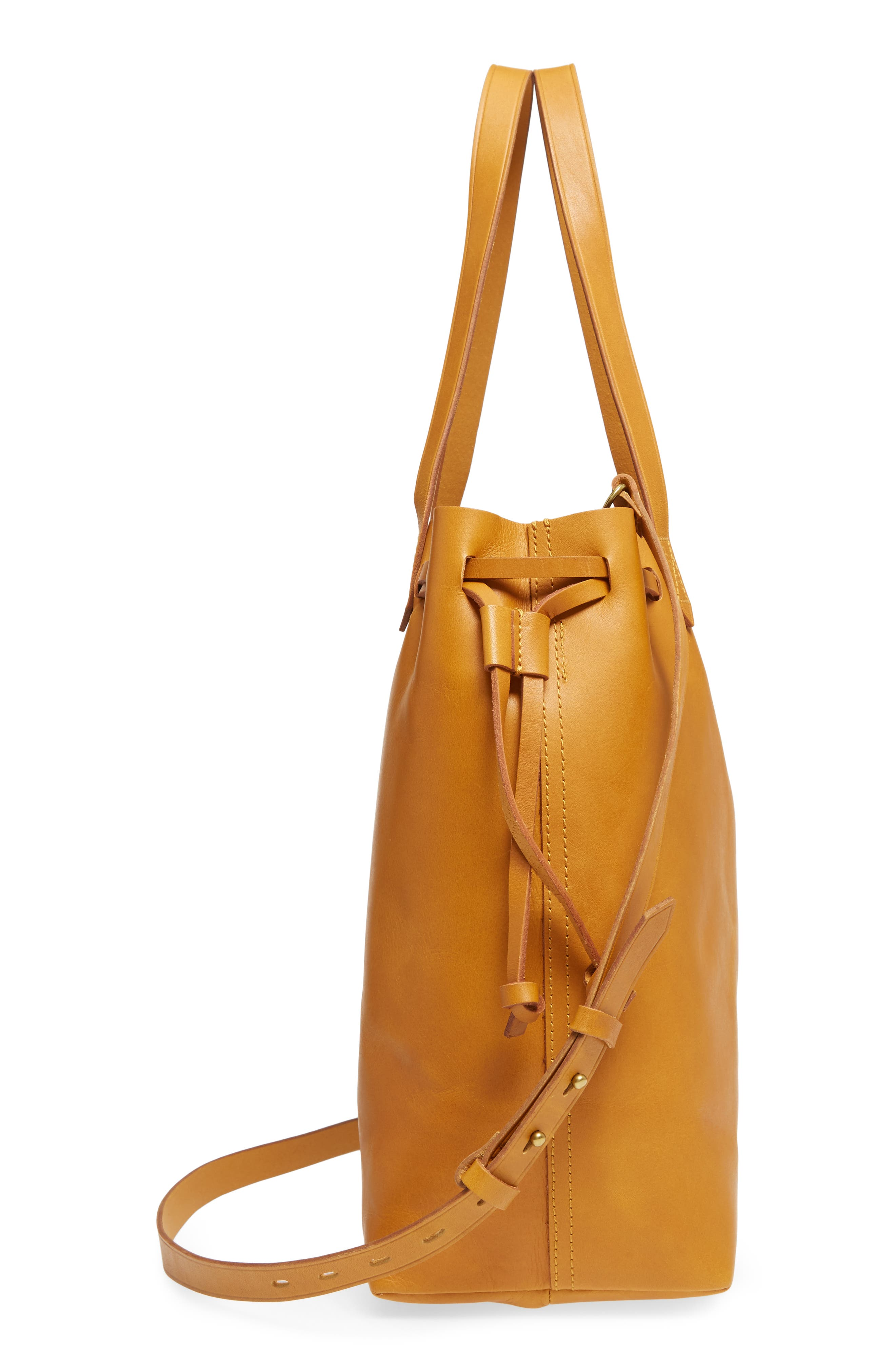 Alternate Image 5  - Madewell Drawcord Transport Leather Tote