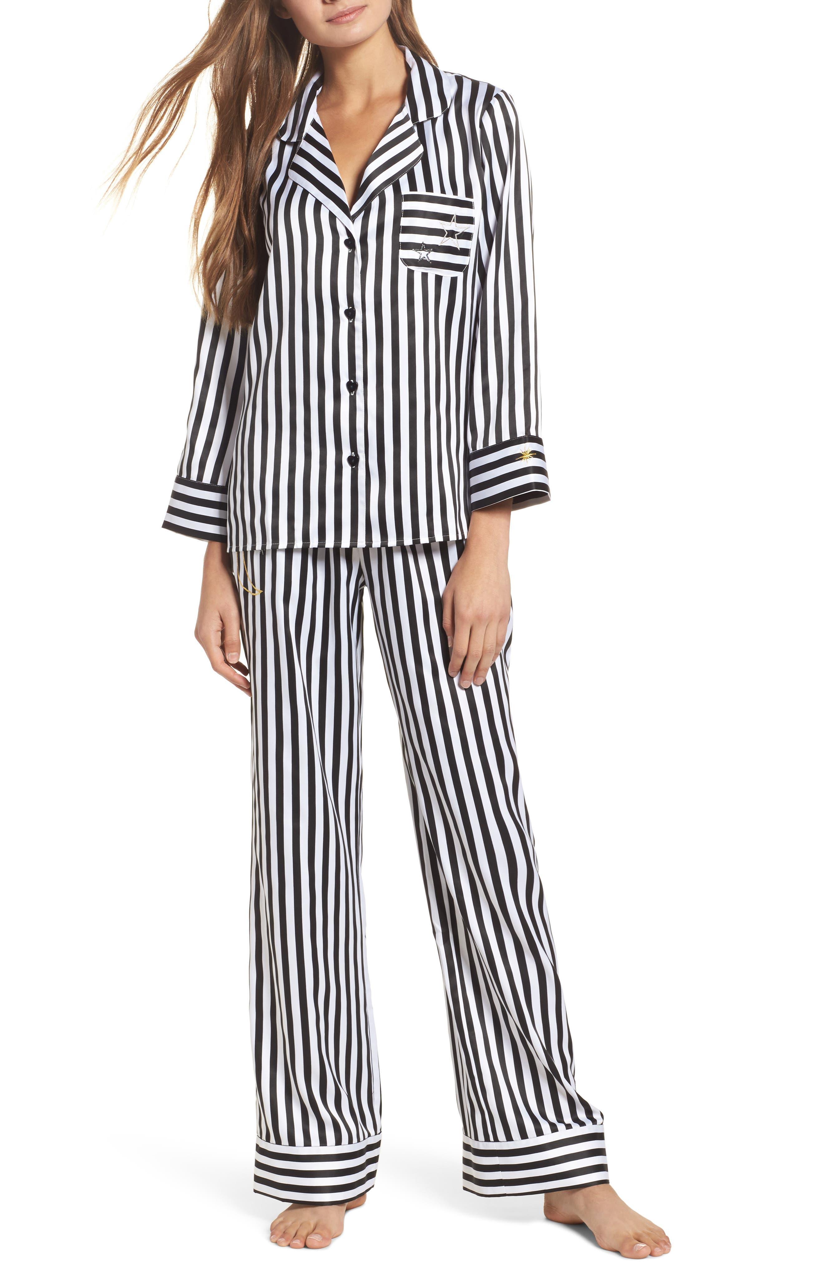 Betsey Johnson Satin Pajamas
