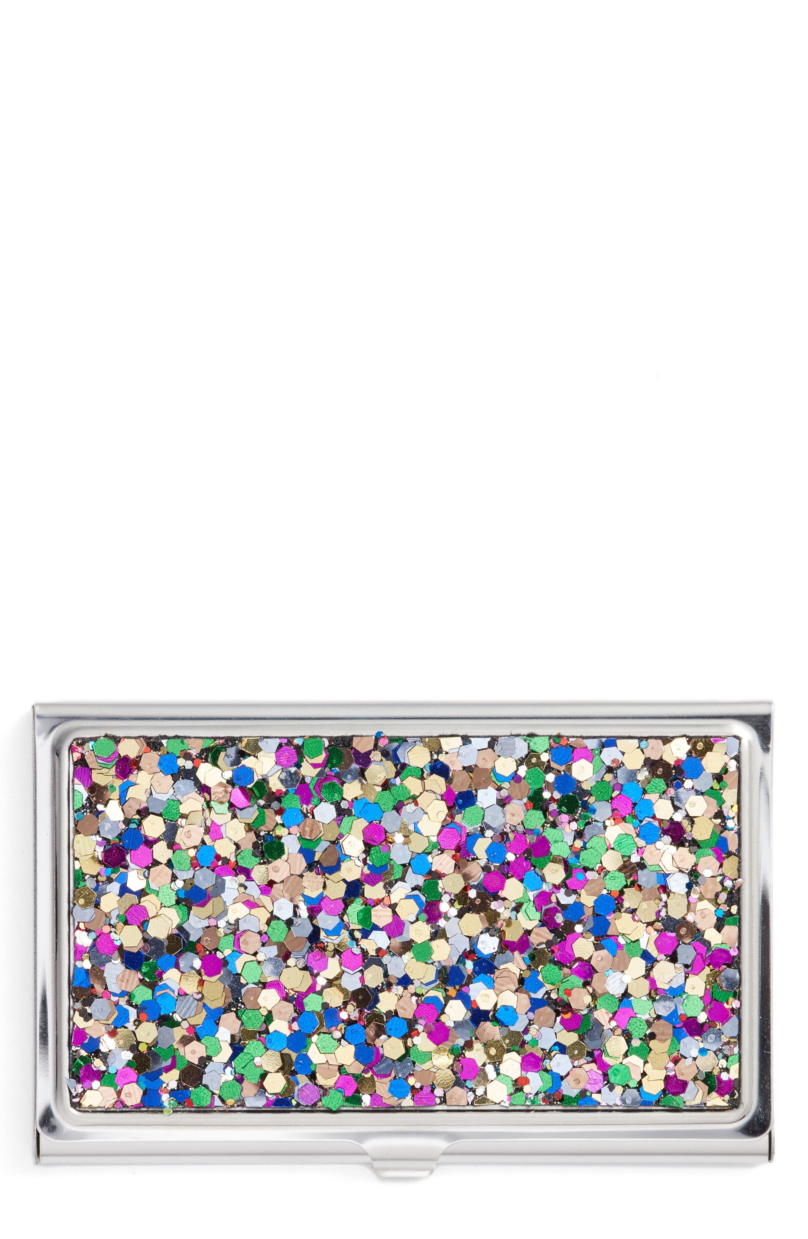 Nordstrom Glitter Card Holder