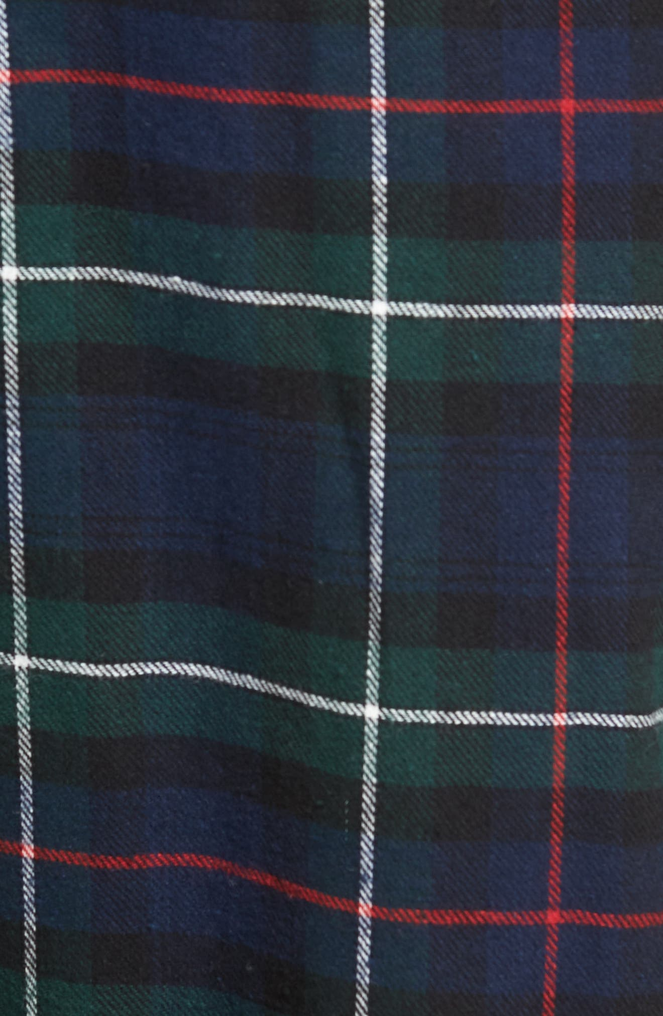 Flannel Pajama Pants,                             Alternate thumbnail 5, color,                             Blackwatch/ Cruise Navy/ Gold