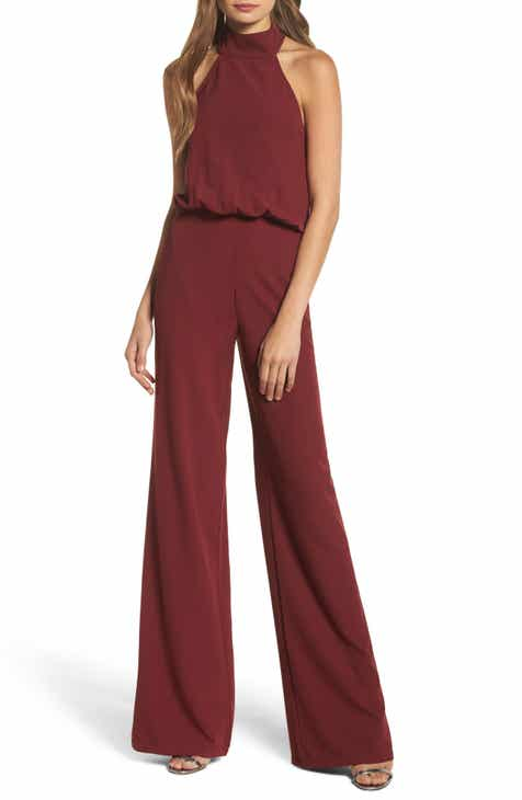Julia Jordan Halter Wide Leg Jumpsuit by JULIA JORDAN