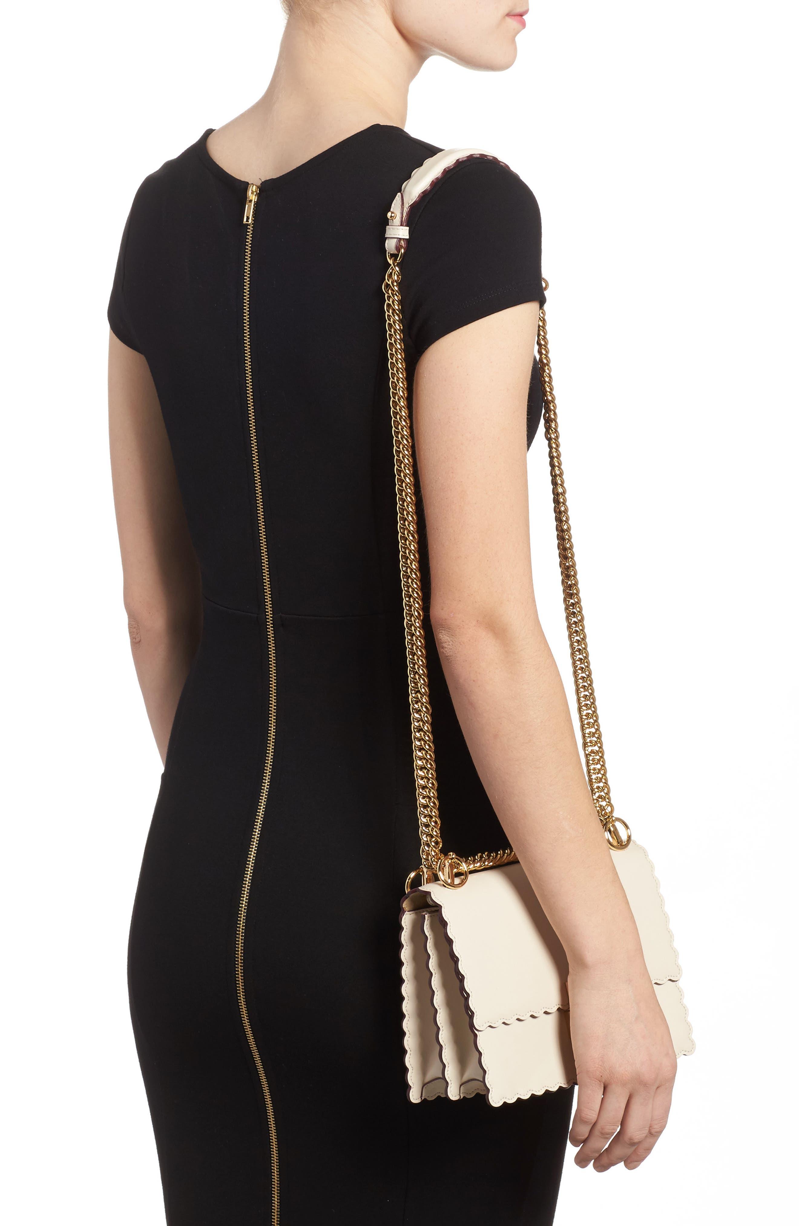 Alternate Image 2  - Fendi Mini Kan I Scalloped Leather Shoulder Bag