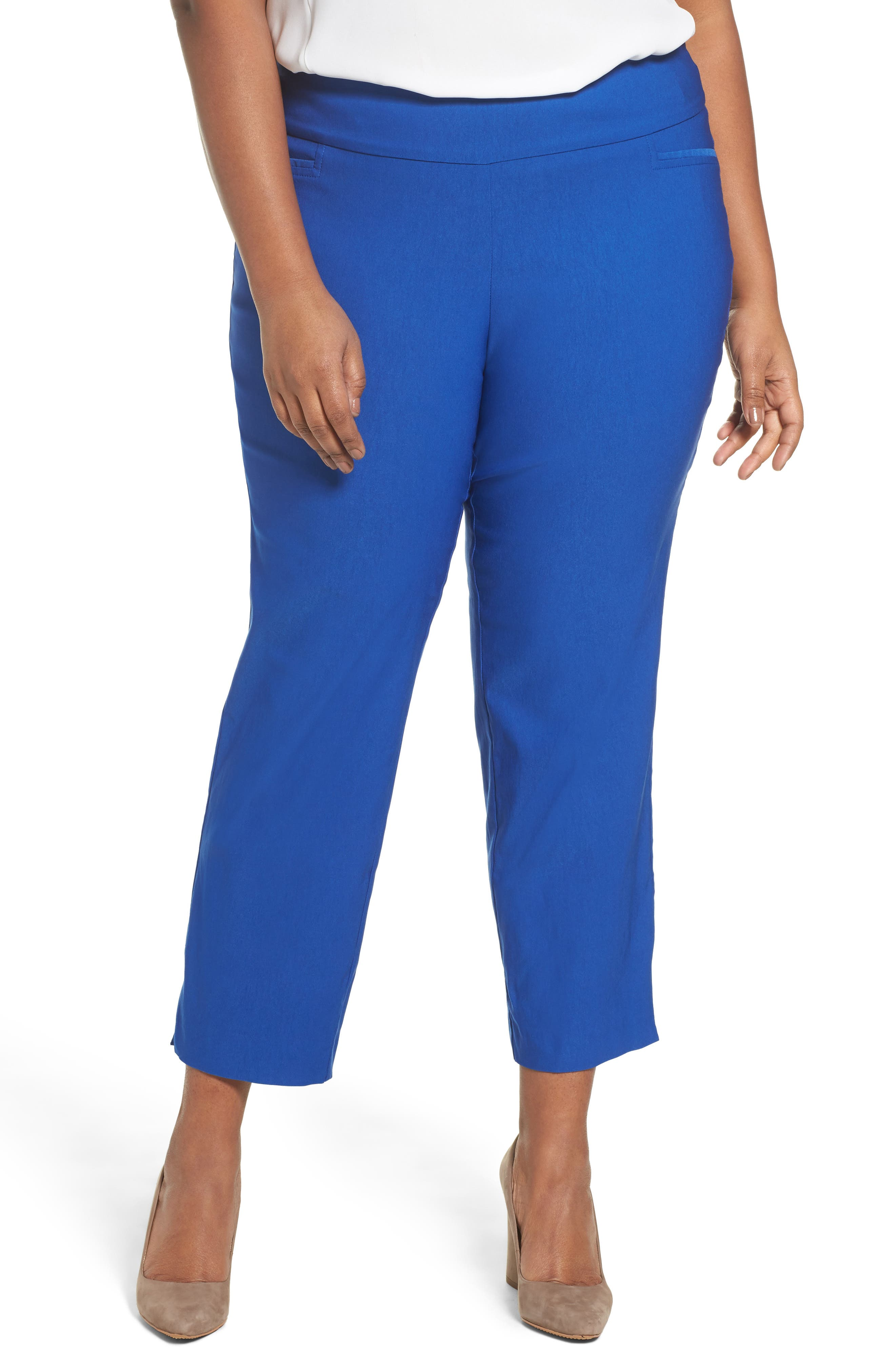 Alternate Image 1 Selected - Sejour Stretch Ankle Pants (Plus Size)