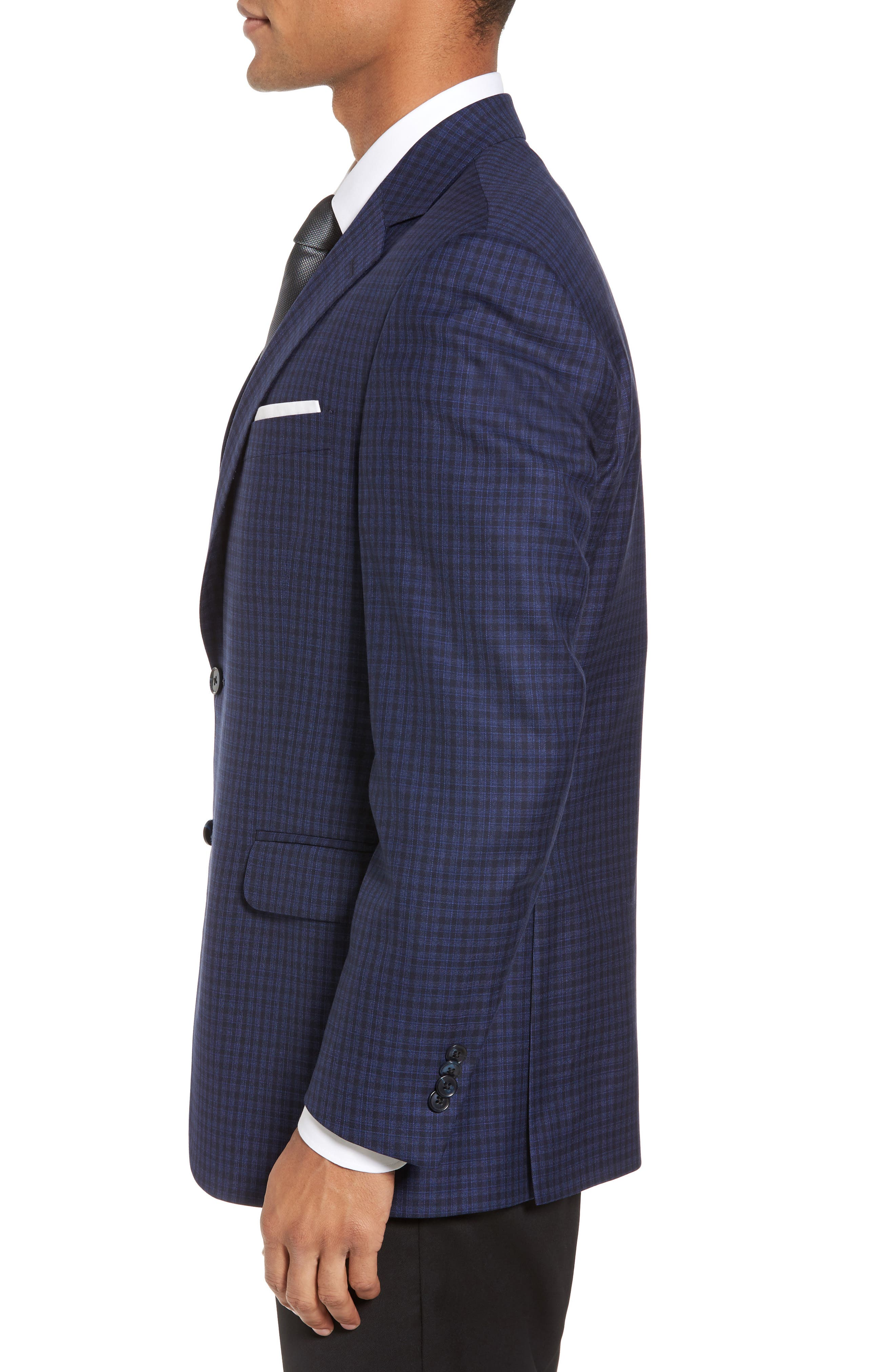 Alternate Image 3  - Peter Millar Classic Fit Check Wool Sport Coat