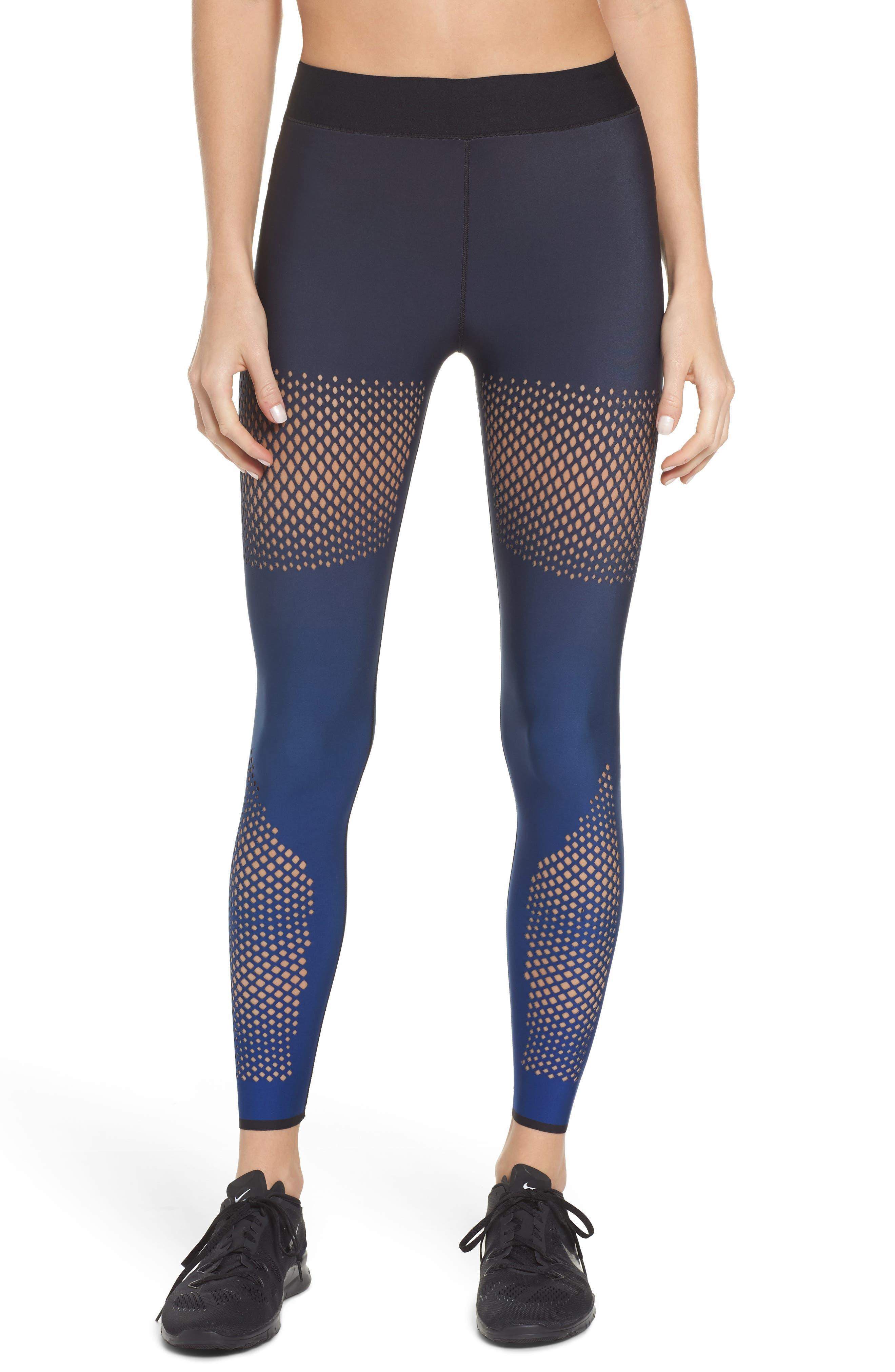Ultra Ultramesh Silk Leggings,                         Main,                         color, Gradient Navy