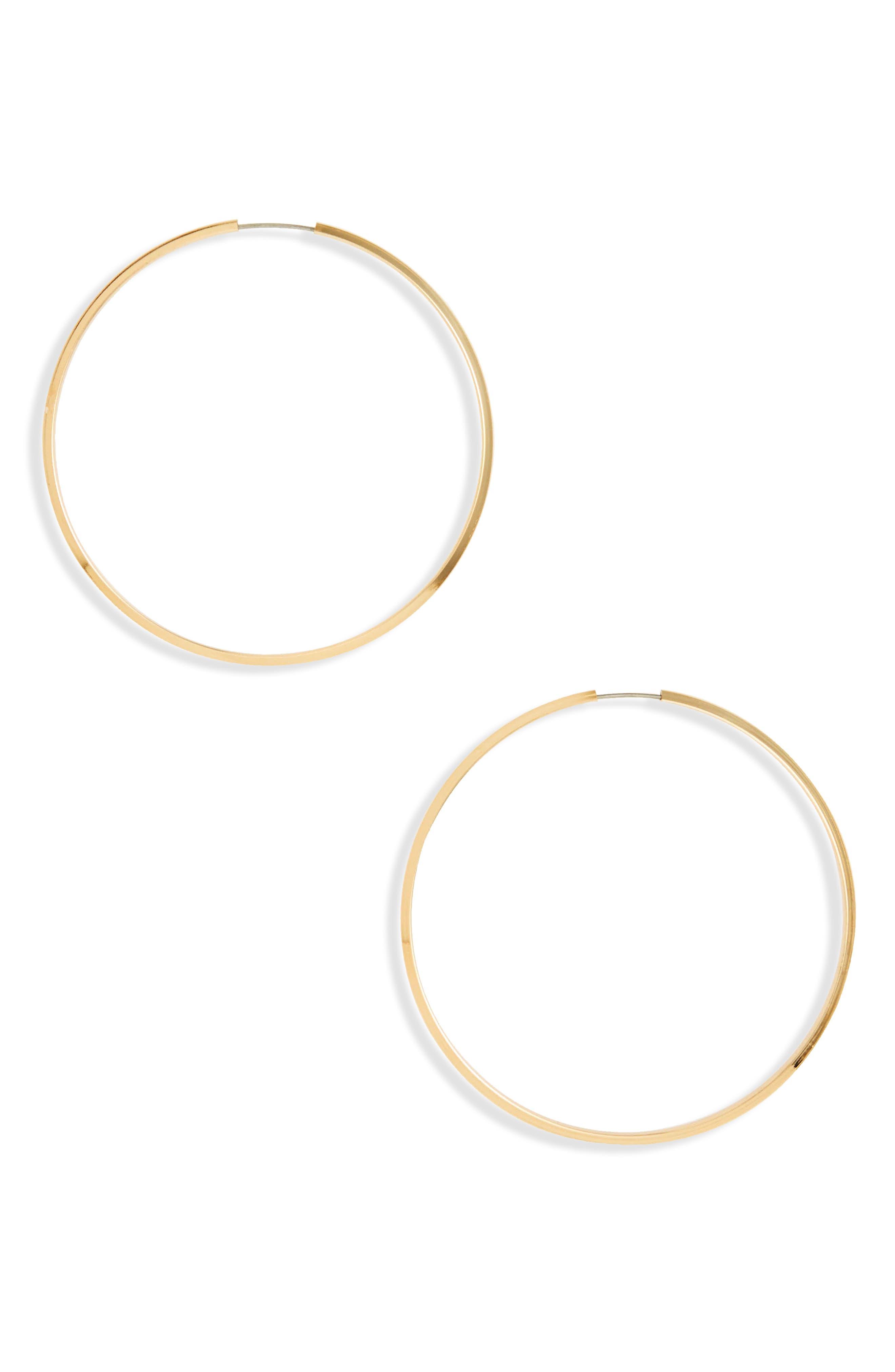 BP. Thin Large Hoop Earrings