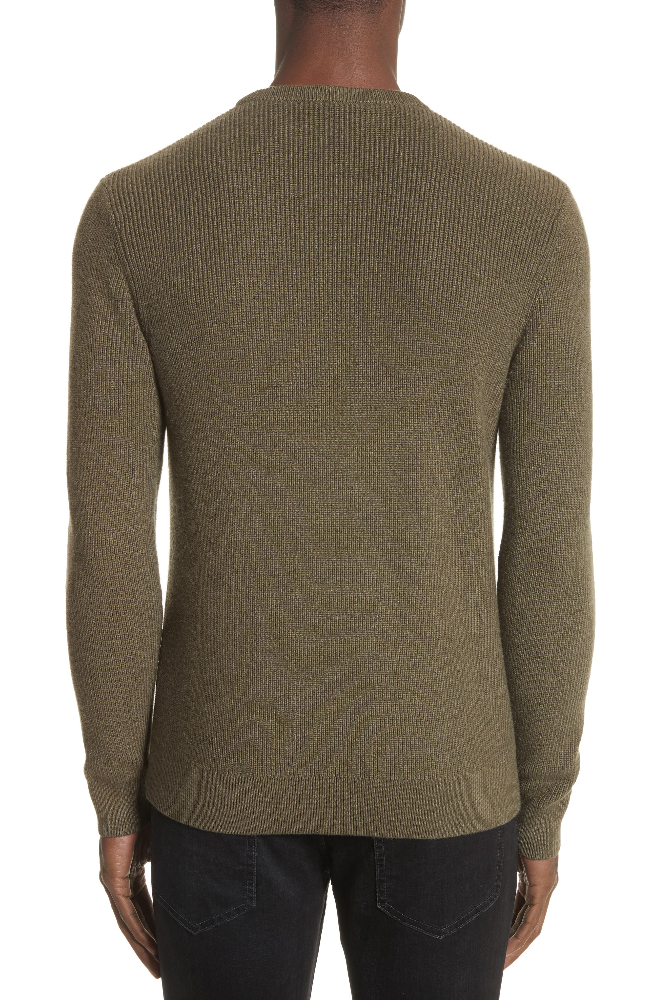 Crewneck Cotton Blend Sweater,                             Alternate thumbnail 2, color,                             Green