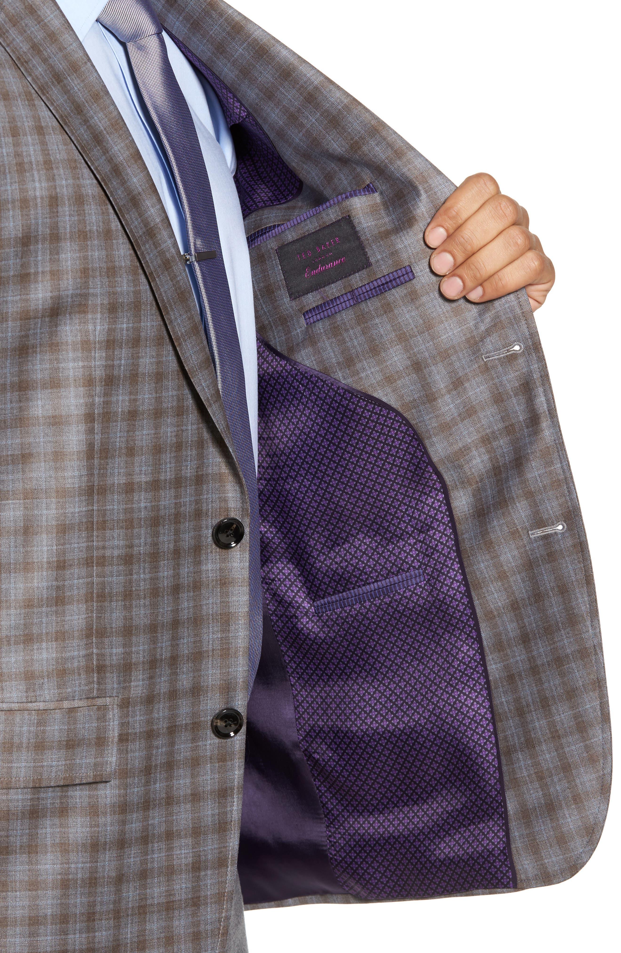 Alternate Image 4  - Ted Baker London Jay Trim Fit Plaid Wool Sport Coat