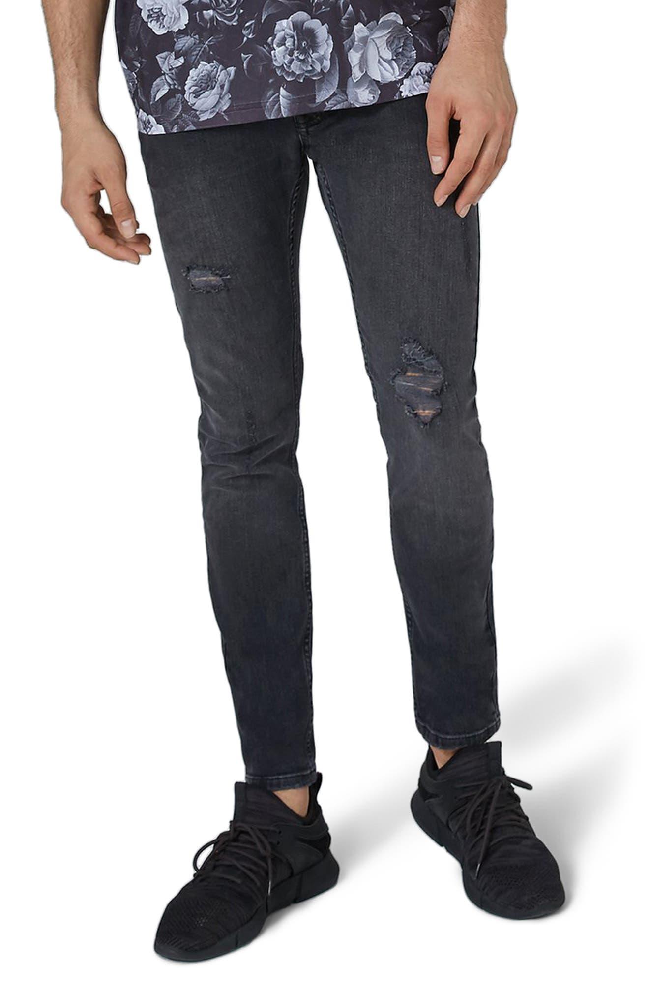 Frankie Super Skinny Jeans,                         Main,                         color, Grey