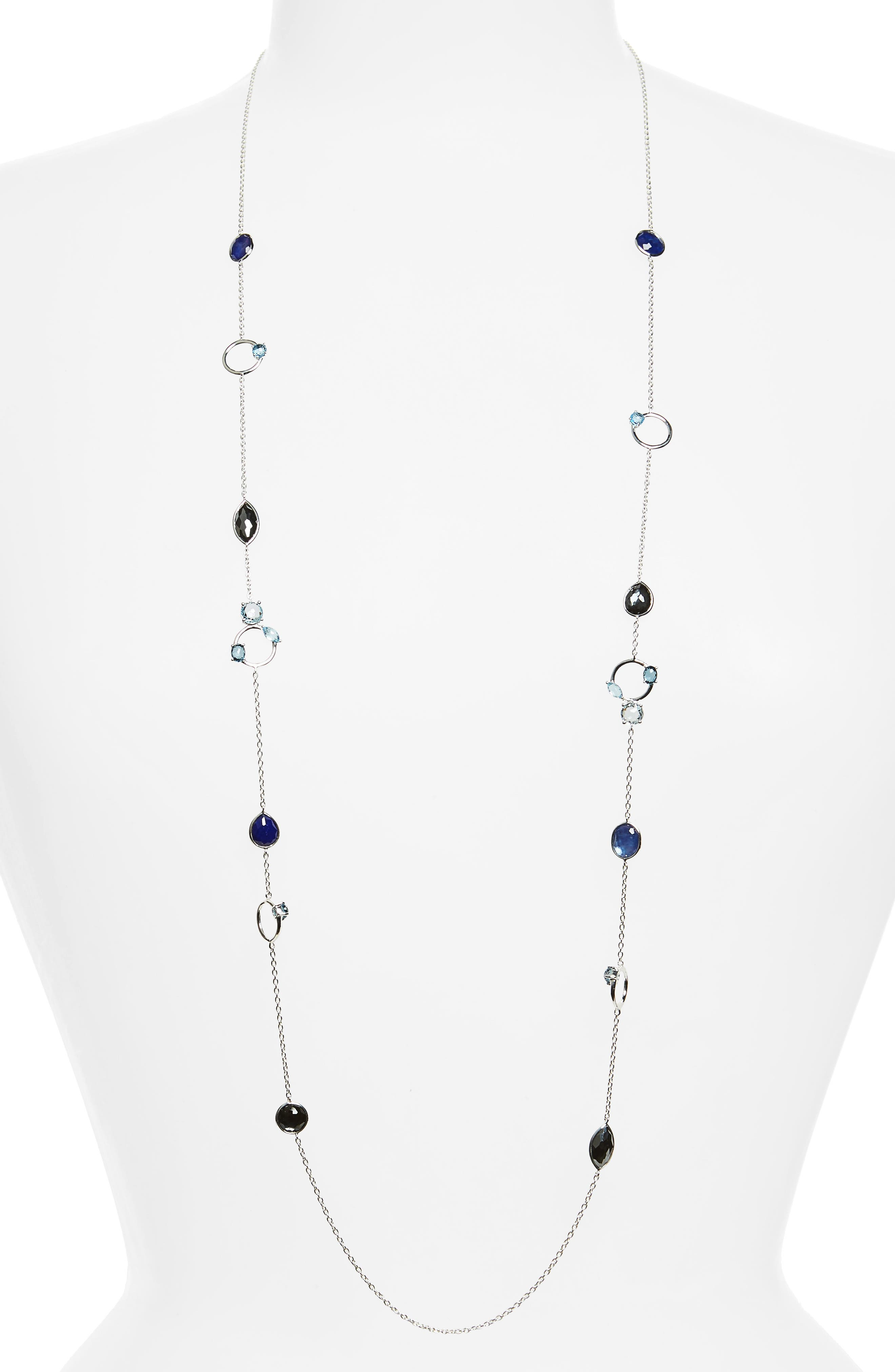 Rock Candy Strand Necklace,                         Main,                         color, Eclipse
