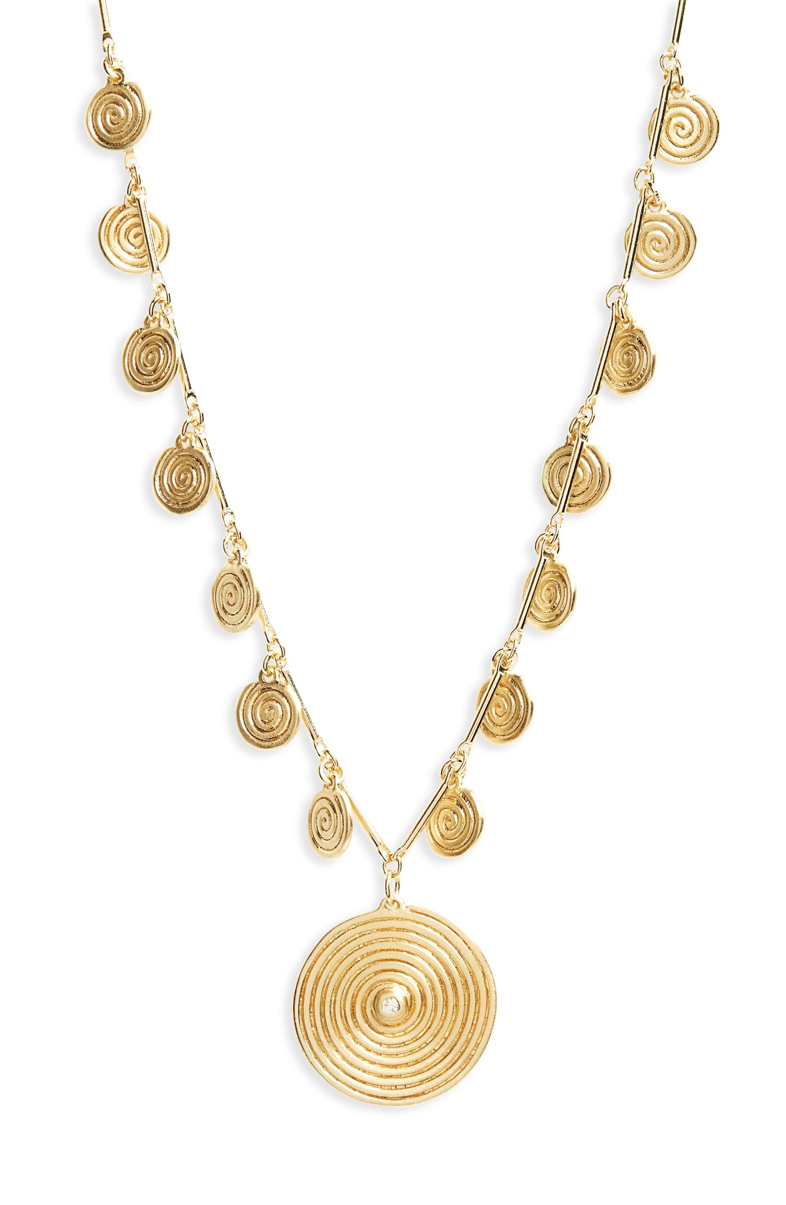 Sullivan - Ashlyn White Topaz Pendant Necklace,                             Alternate thumbnail 2, color,                             Yellow Gold