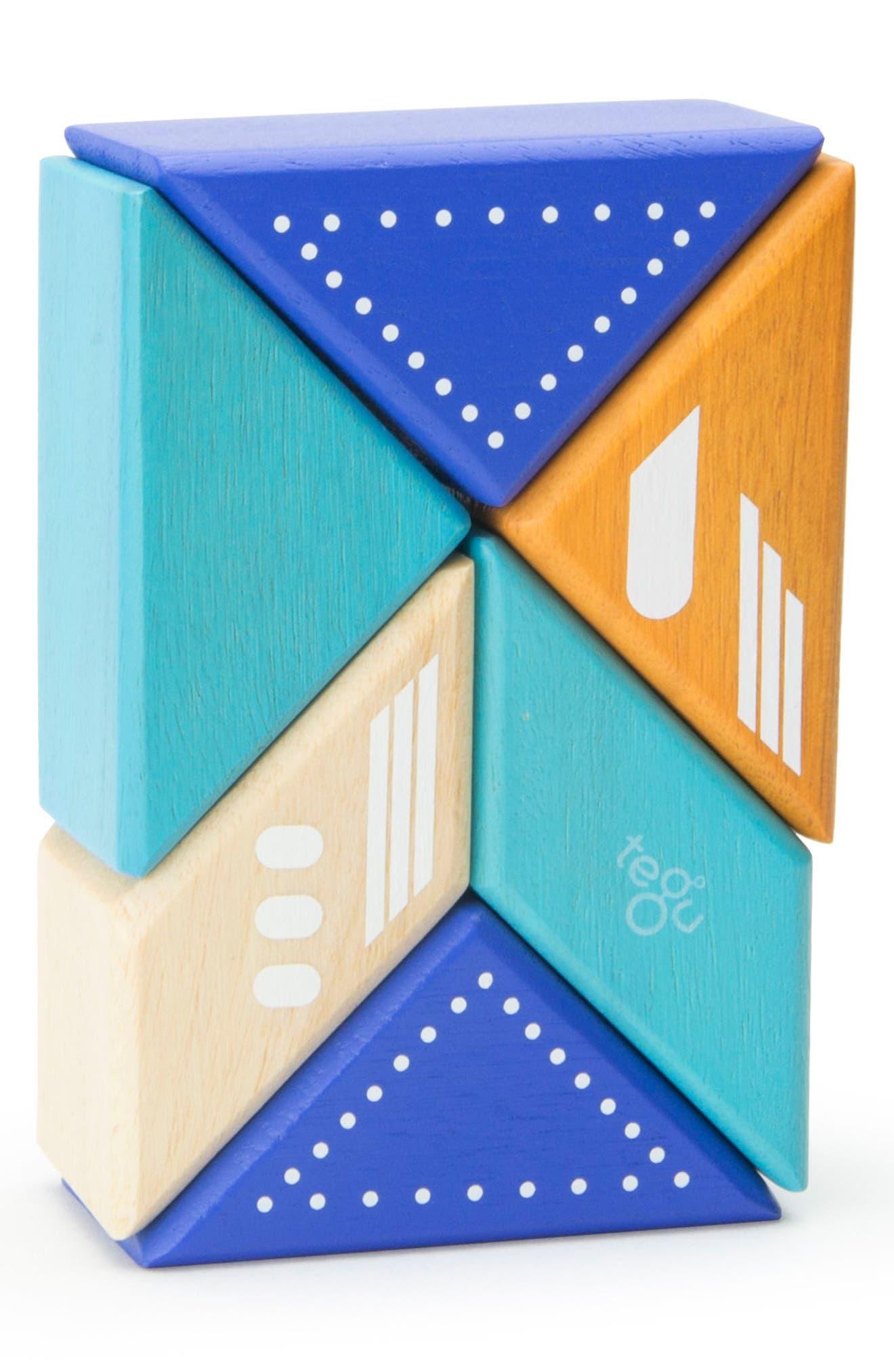Travel Pals 6-Piece Jet Magnetic Block Set,                             Alternate thumbnail 2, color,                             Blue