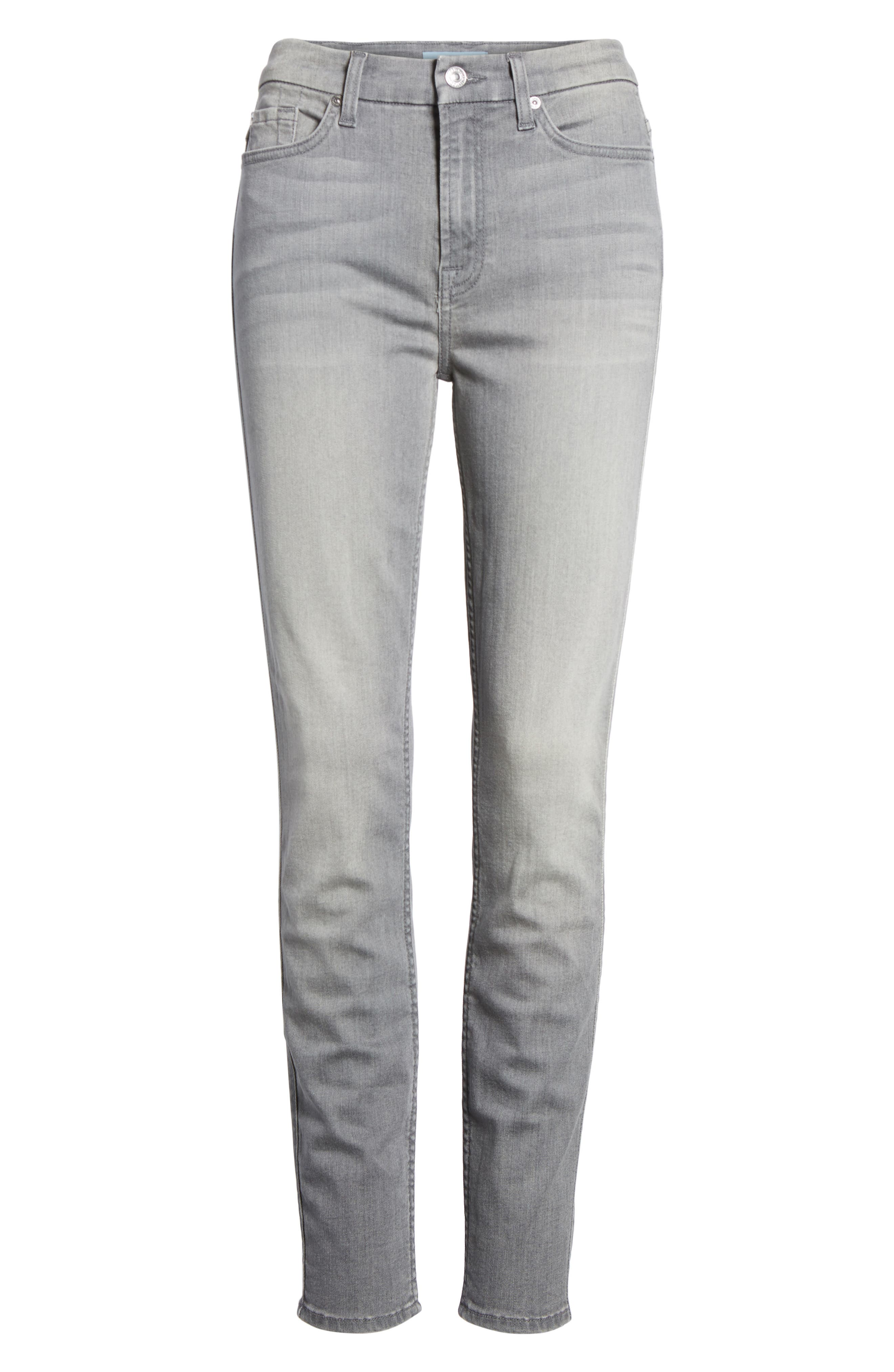 Alternate Image 6  - 7 For All Mankind® High Waist Ankle Skinny Jeans (Chrysler Grey)