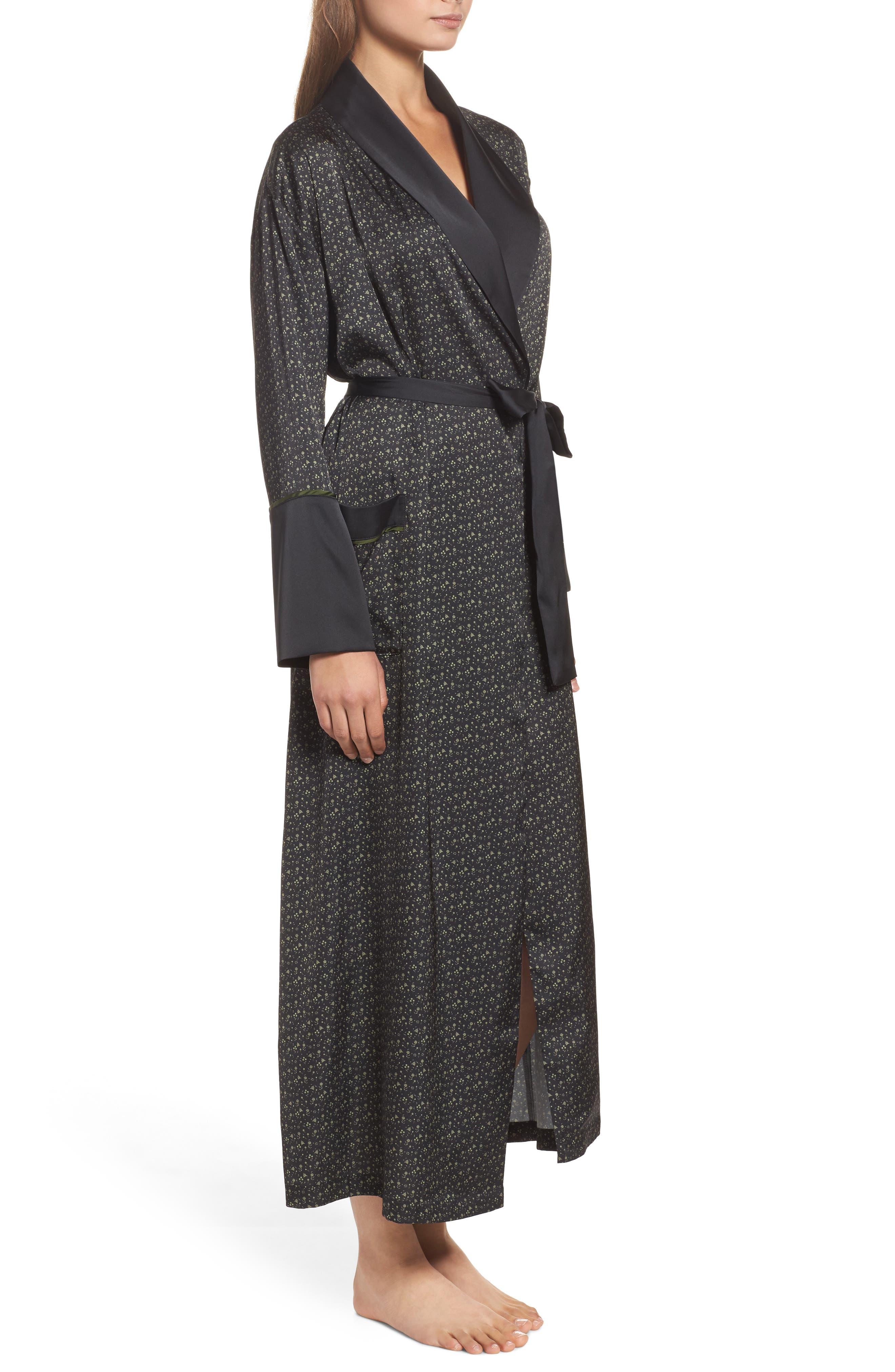 Alternate Image 3  - Bed to Brunch Print Satin Robe