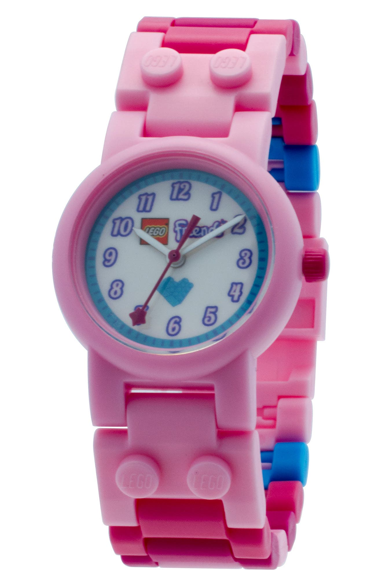 29-Piece LEGO Friends Stephanie Buildable Water-Resistant Watch & Figurine Set,                             Alternate thumbnail 2, color,                             Pink