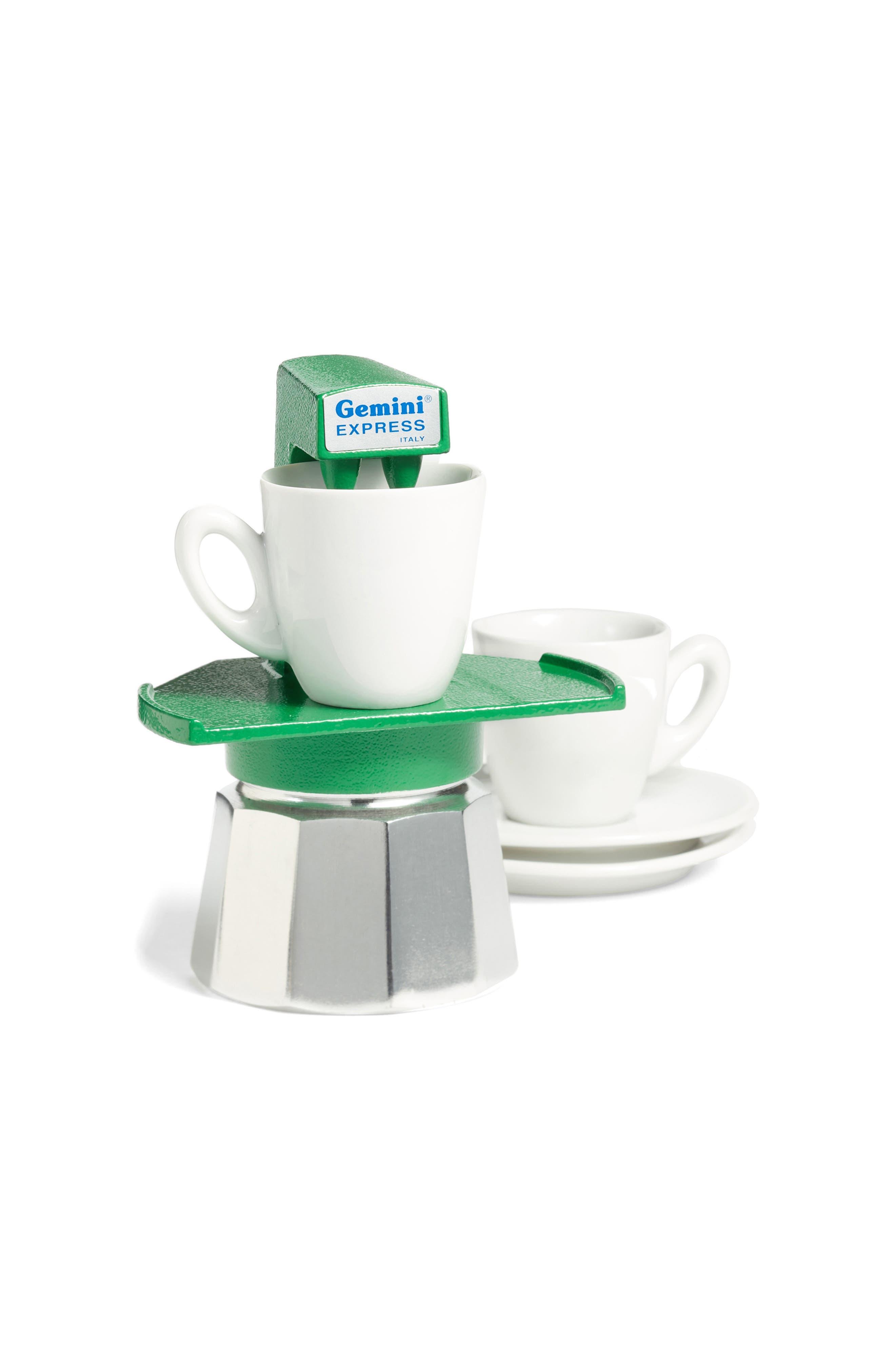 Gemini Espresso Maker,                             Alternate thumbnail 3, color,                             Green