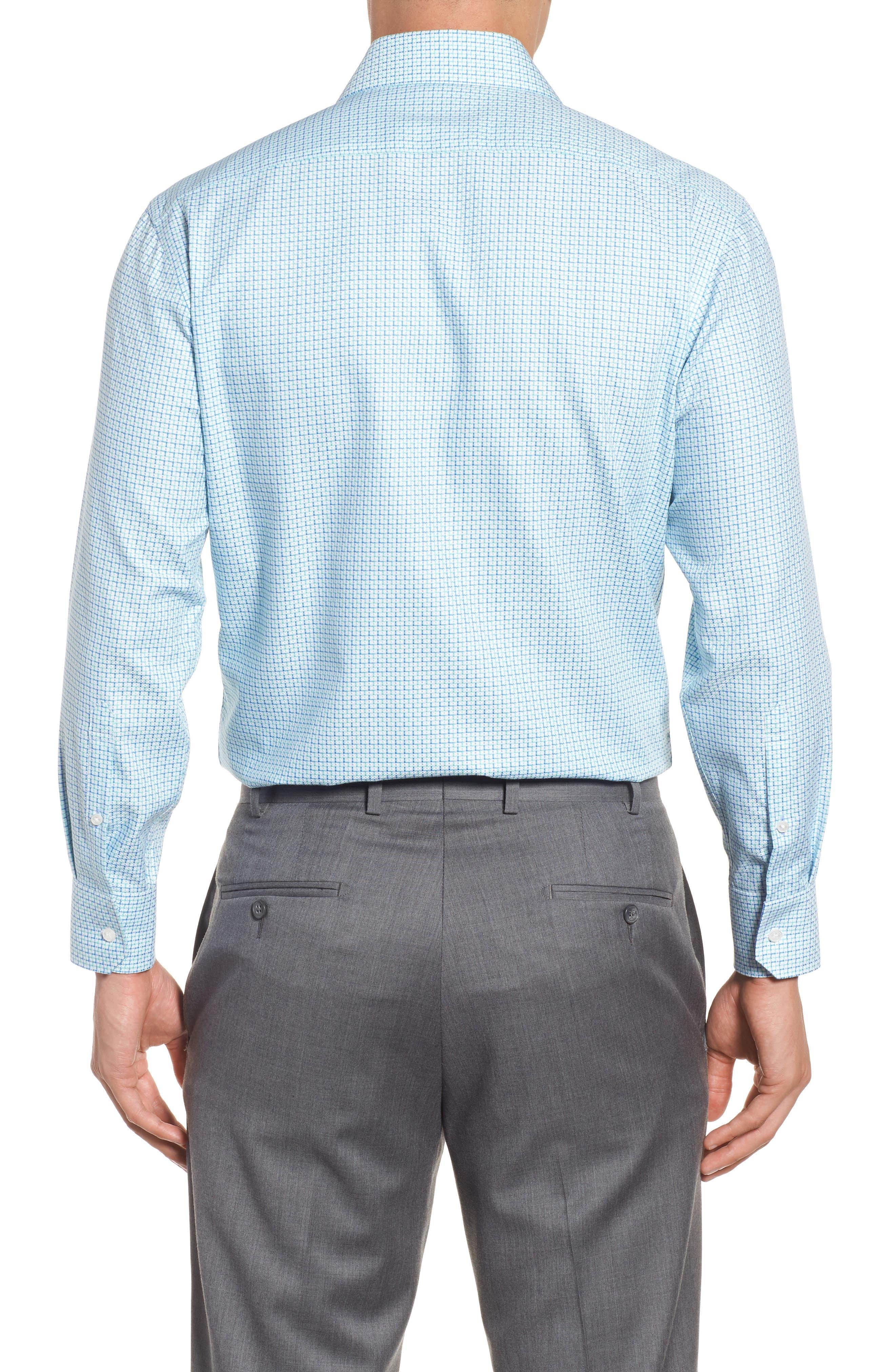 Trim Fit Geometric Dress Shirt,                             Alternate thumbnail 2, color,                             Light Green