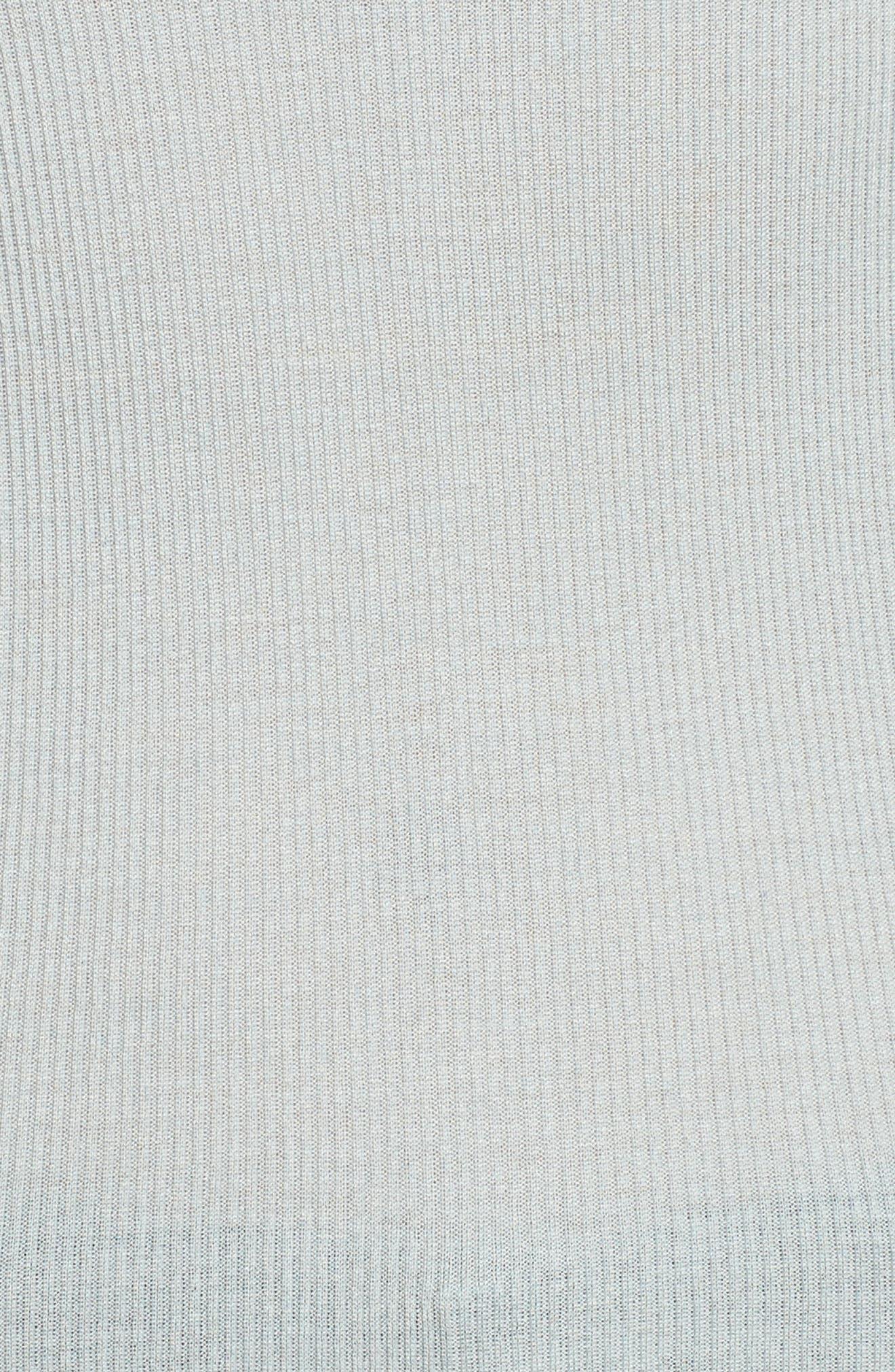 Benedict Lace Trim Tee,                             Alternate thumbnail 5, color,                             Puritan Grey