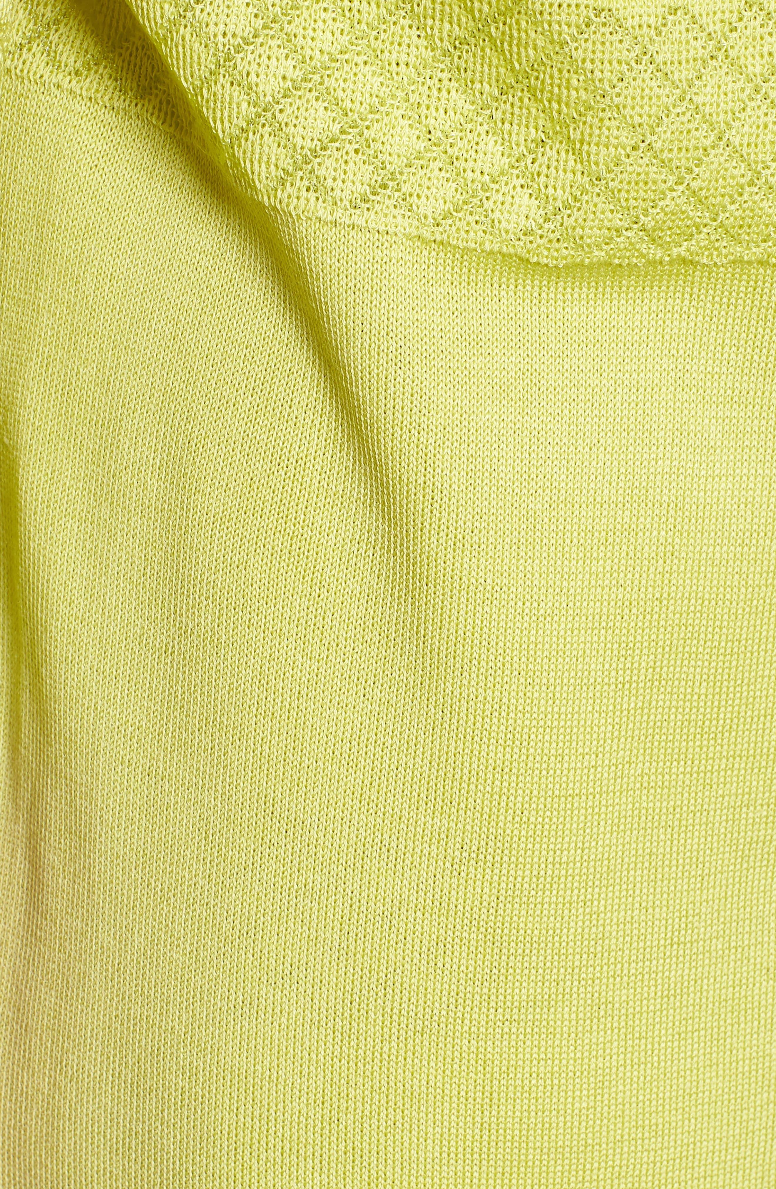 Long Jacquard Knit Jacket,                             Alternate thumbnail 5, color,                             Aurora