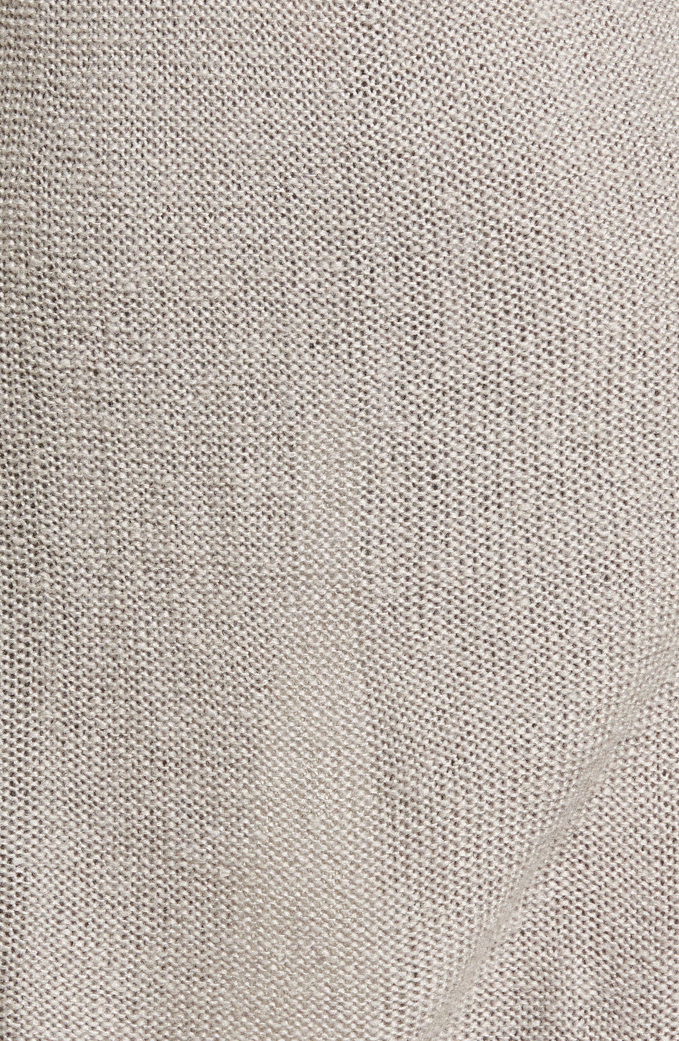 Bell Sleeve Sweater Dress,                             Alternate thumbnail 5, color,                             Light Heather Grey