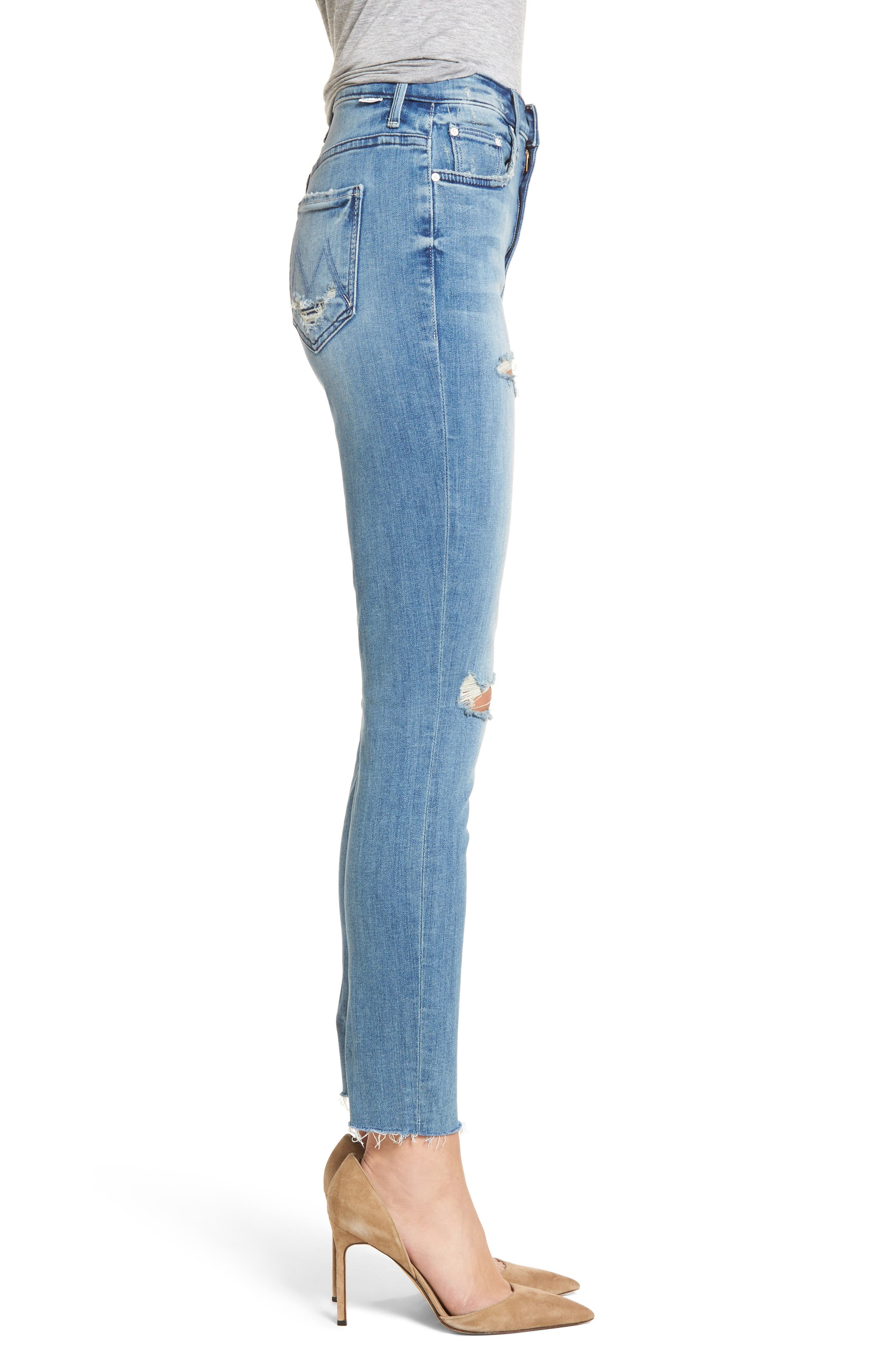 The Swooner High Waist Ankle Skinny Jeans,                             Alternate thumbnail 3, color,                             Losing Control