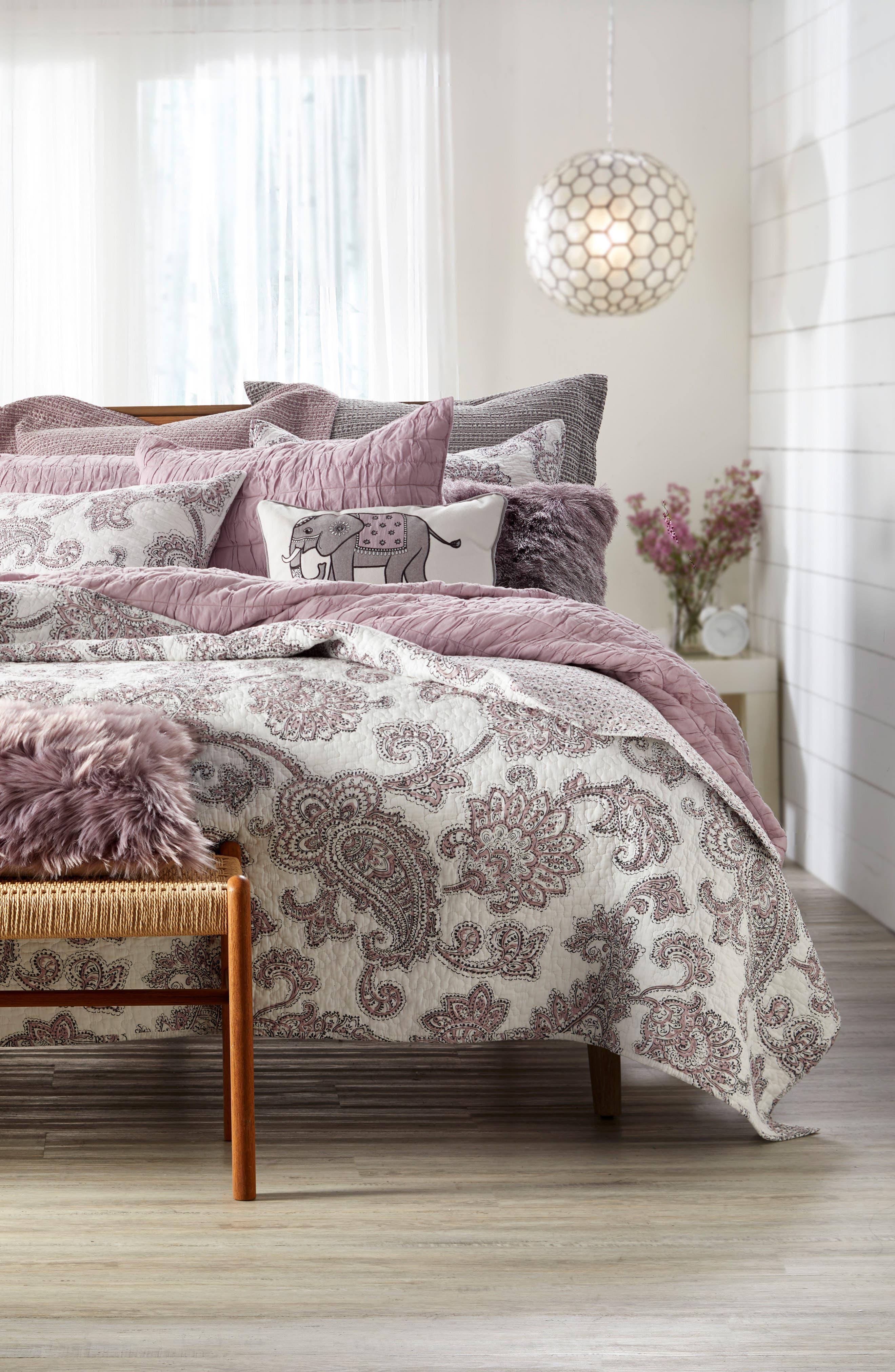 Parma Reversible Quilt,                             Main thumbnail 1, color,                             Lavender