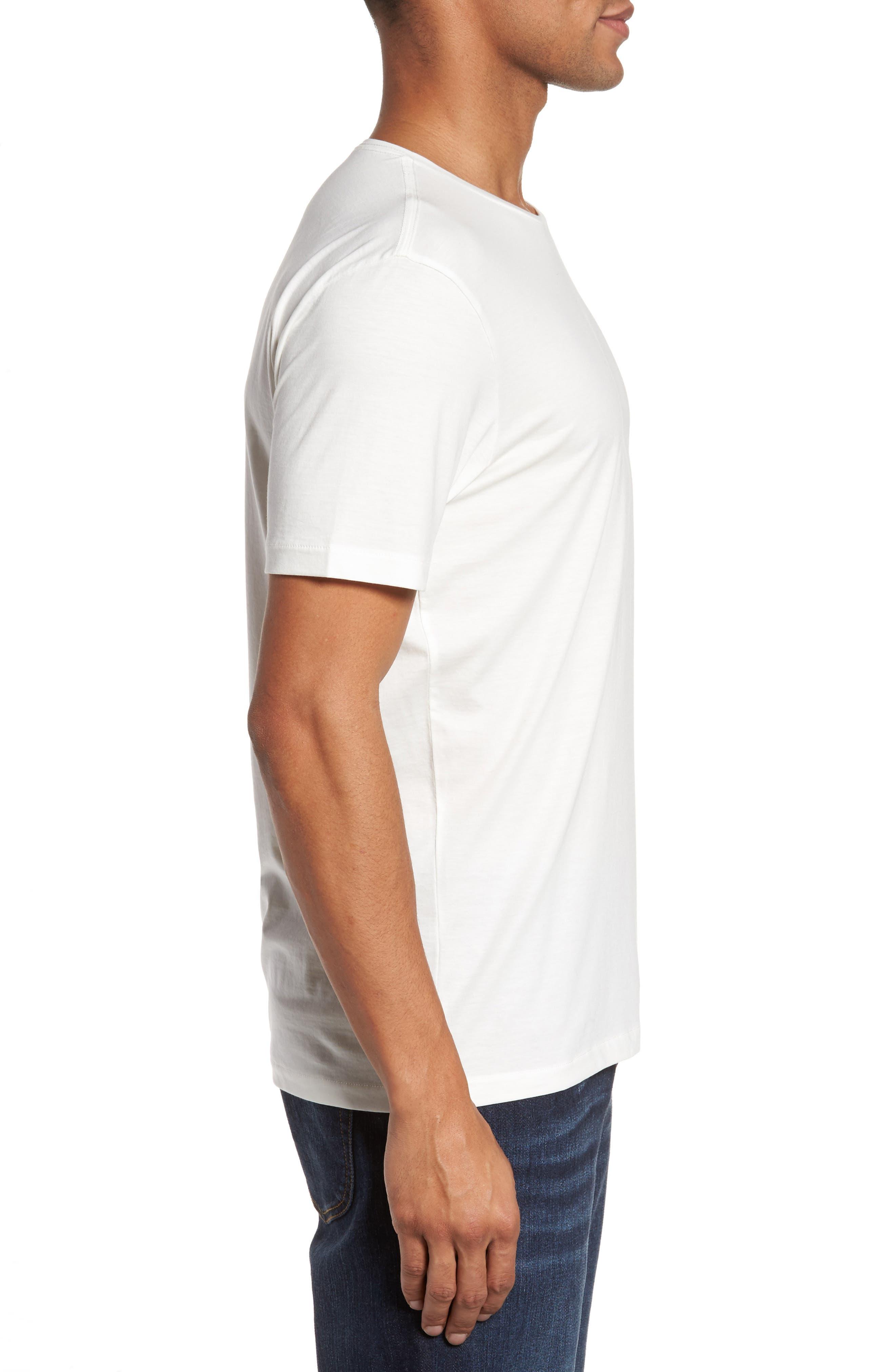 Refined T-Shirt,                             Alternate thumbnail 3, color,                             White