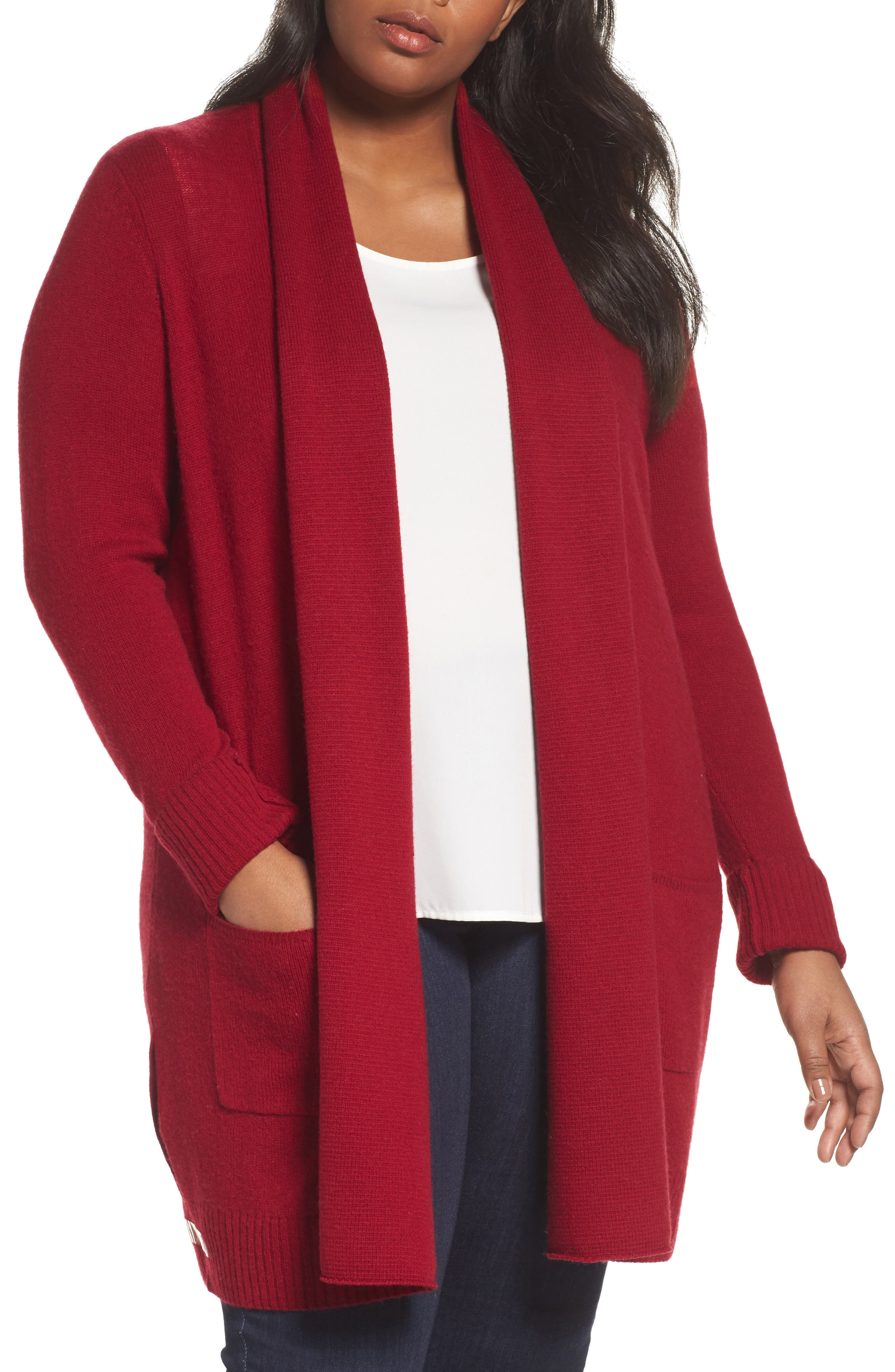 Sejour Pocket Cardigan (Plus Size)